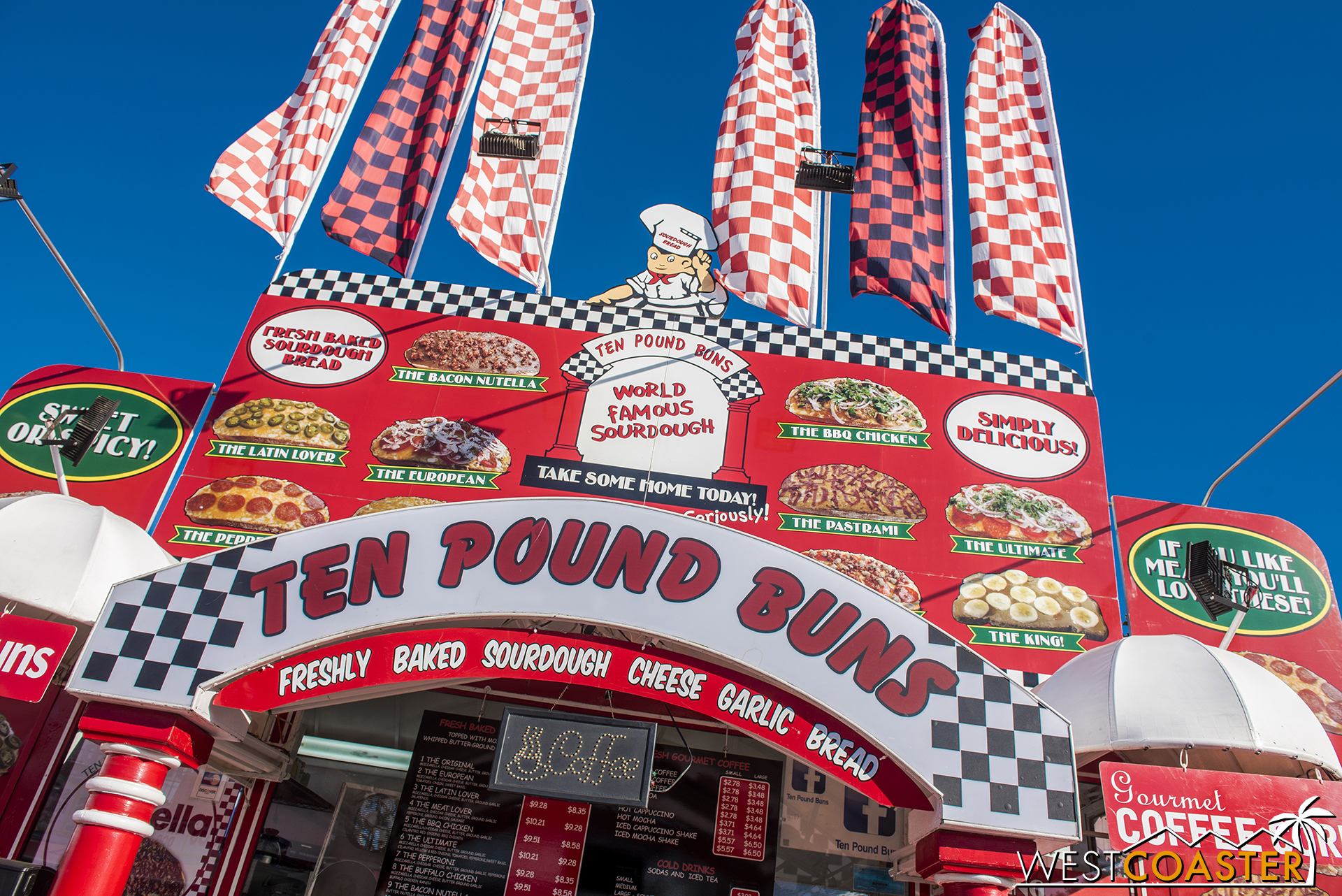 """Ten Pound Buns, in the Centennial Farm area by the Meadows Stage, has a new """"Sugar High"""" stacked bread item that peanut butter, chocolate chips, marshmallow, honey drizzle, and more sweets on top for a diabetic overload."""