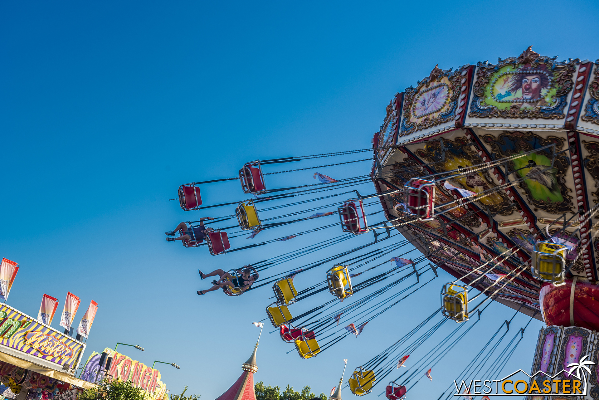 There are classic rides like these swings.