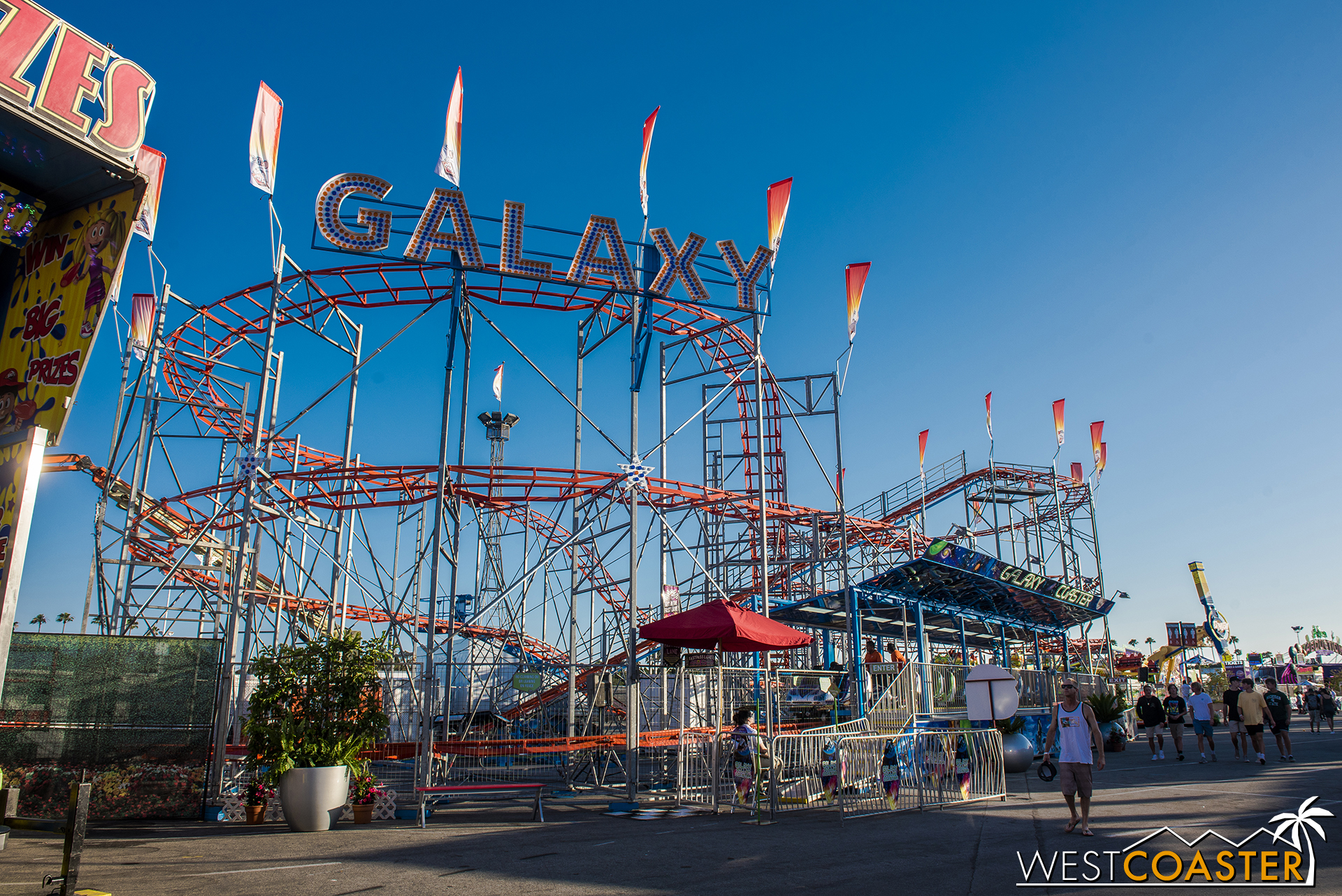 And the venerable Galaxy traveling roller coaster (recently upgraded to a more contemporary model a few years ago).