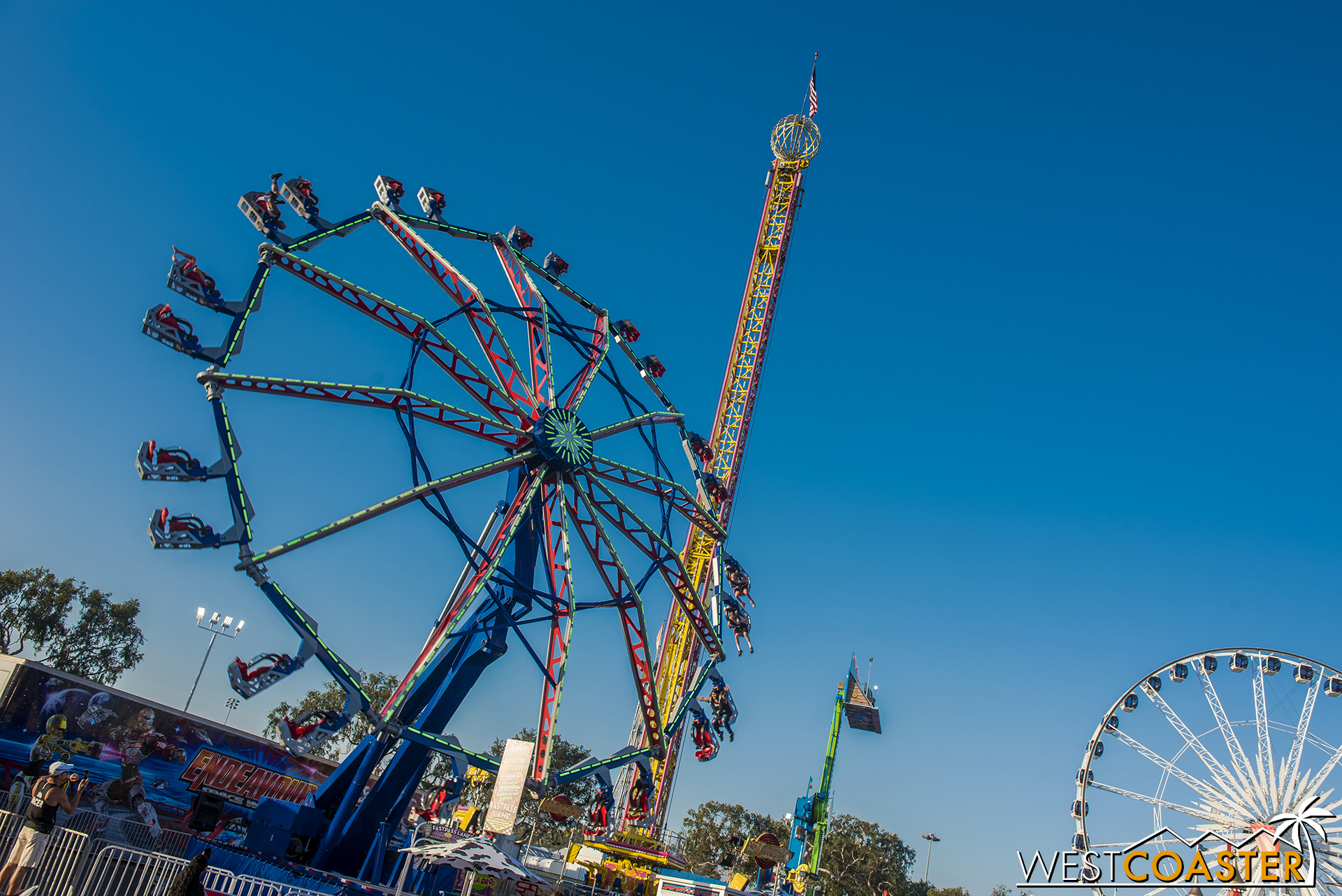 Zamperla has an Endeavour ride that I think is new to the OC Fair this year.