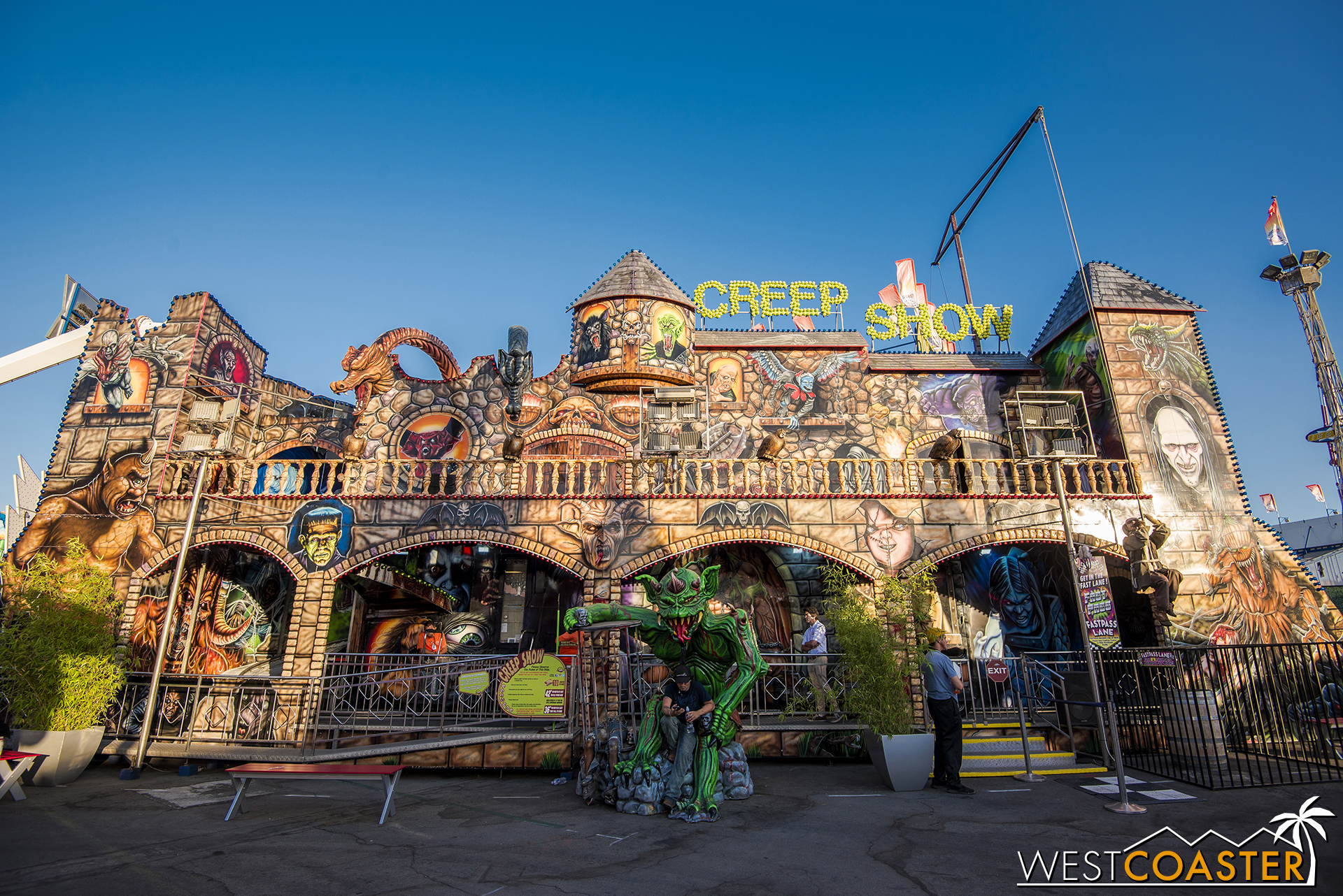 Of course, other classic rides still abound, like the Creep Show haunted house dark ride.