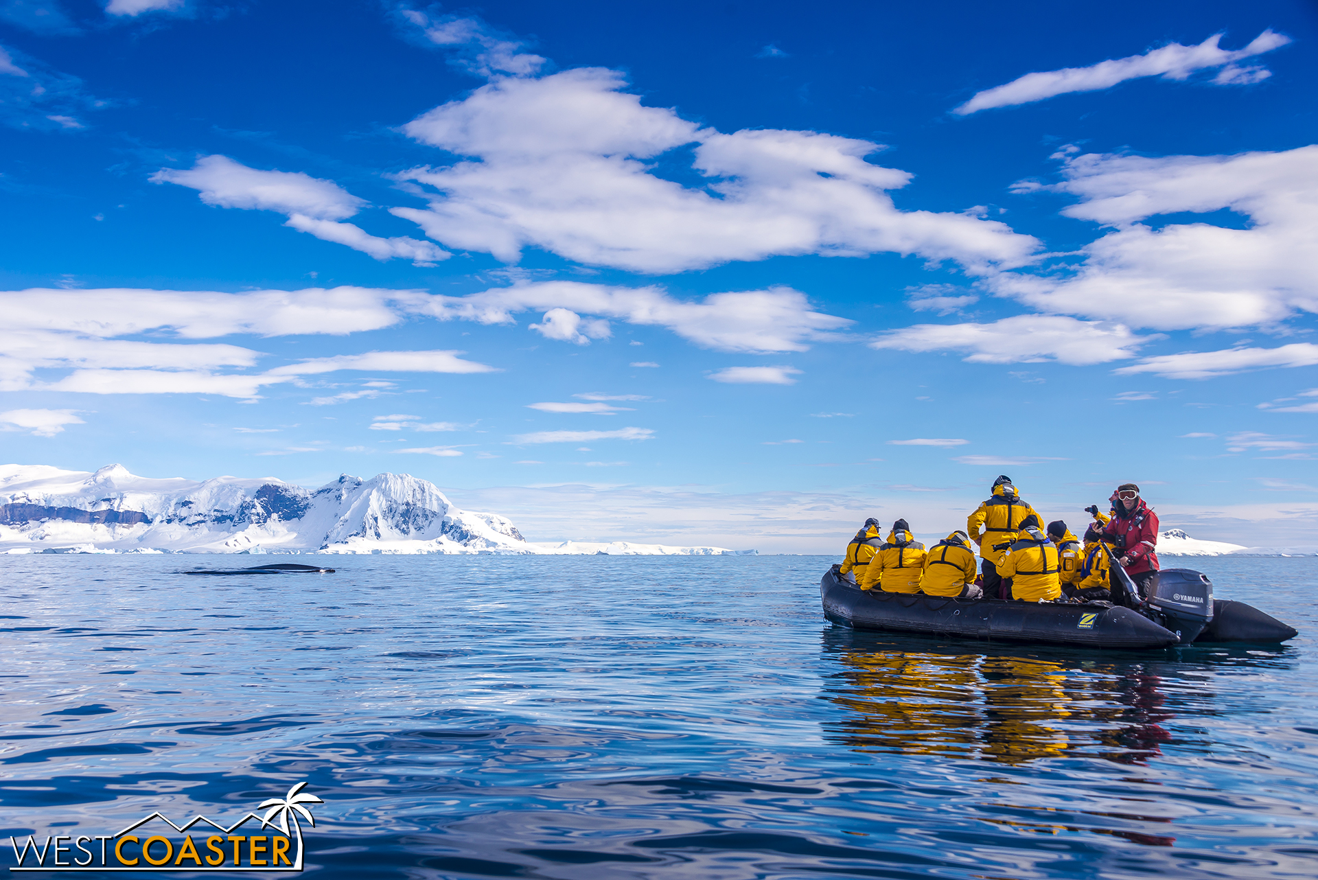 A Quark Expeditions zodiac raft for perspective.