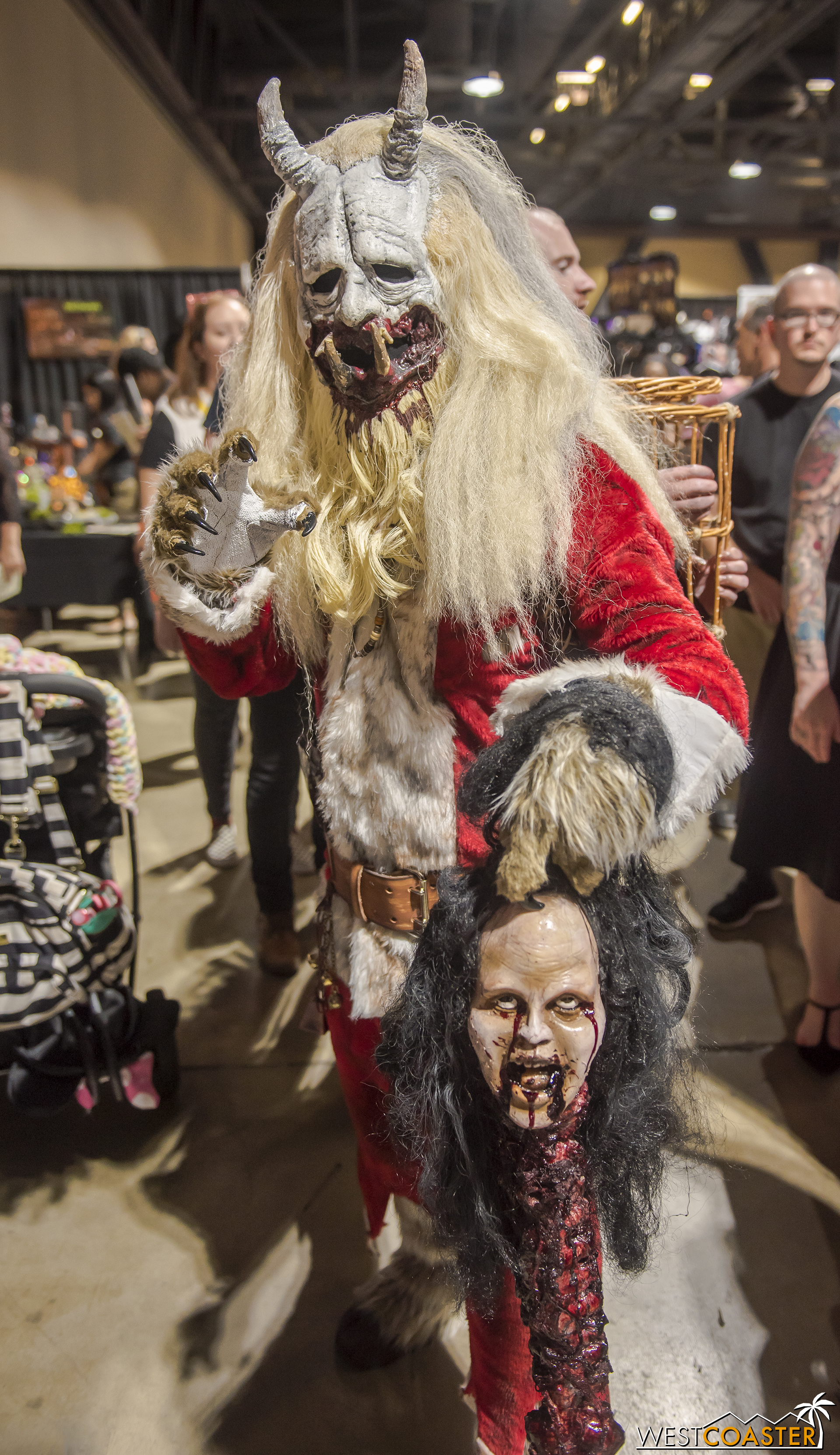 It's not a horror con without a Krampus, of course.