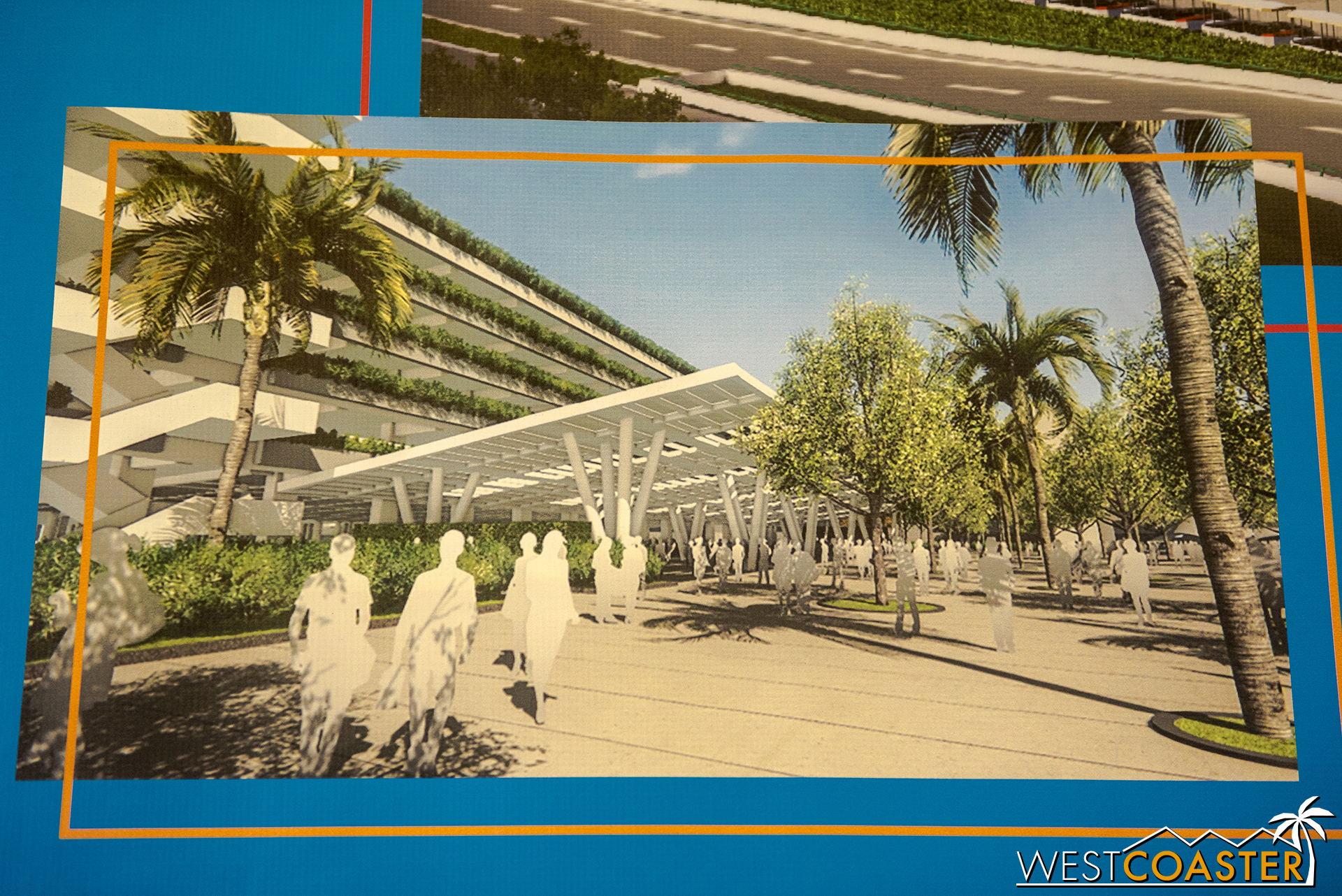 The loading promenade will look like this by the new structure.