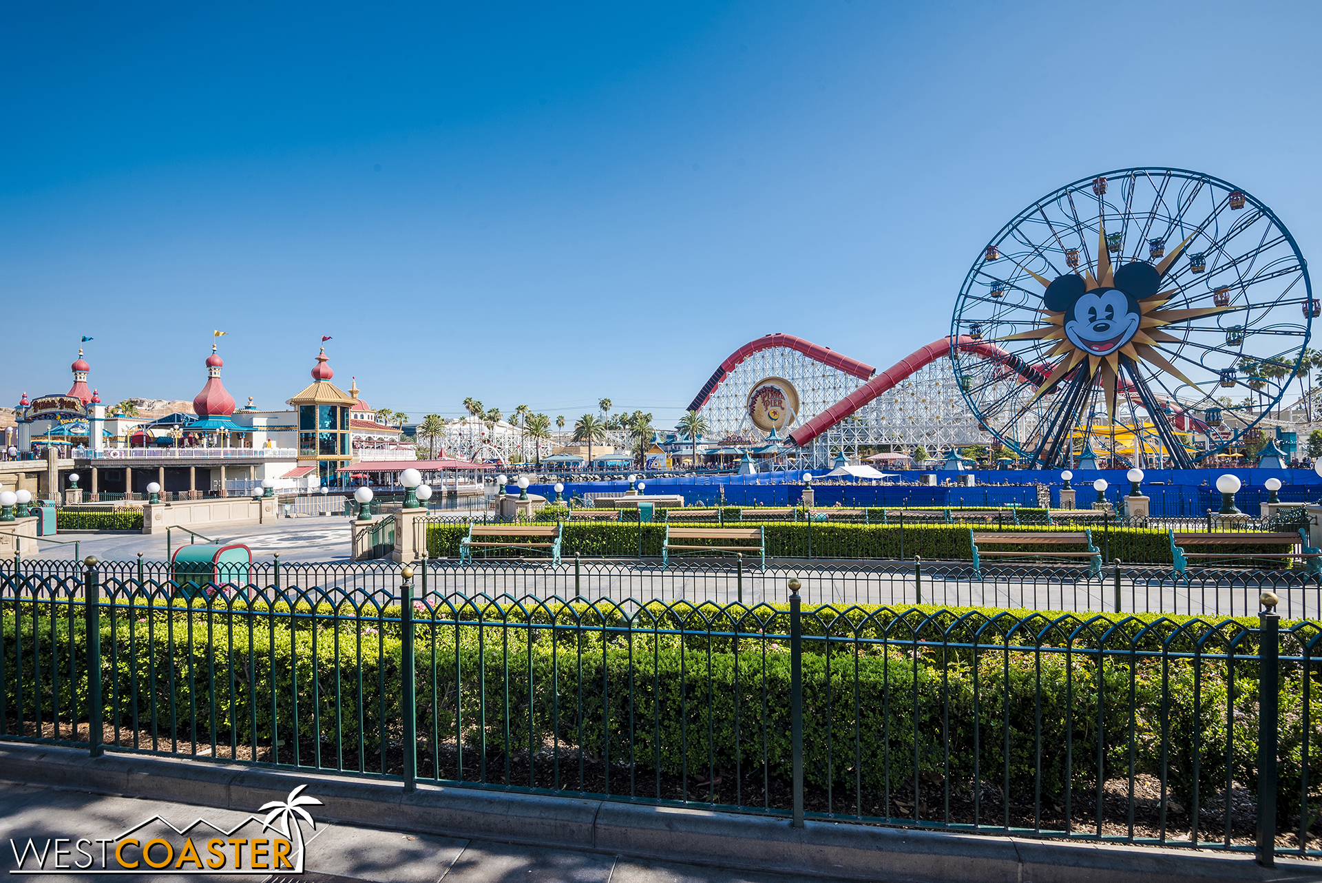 In World of Color news, the platforms are back up for repairs.