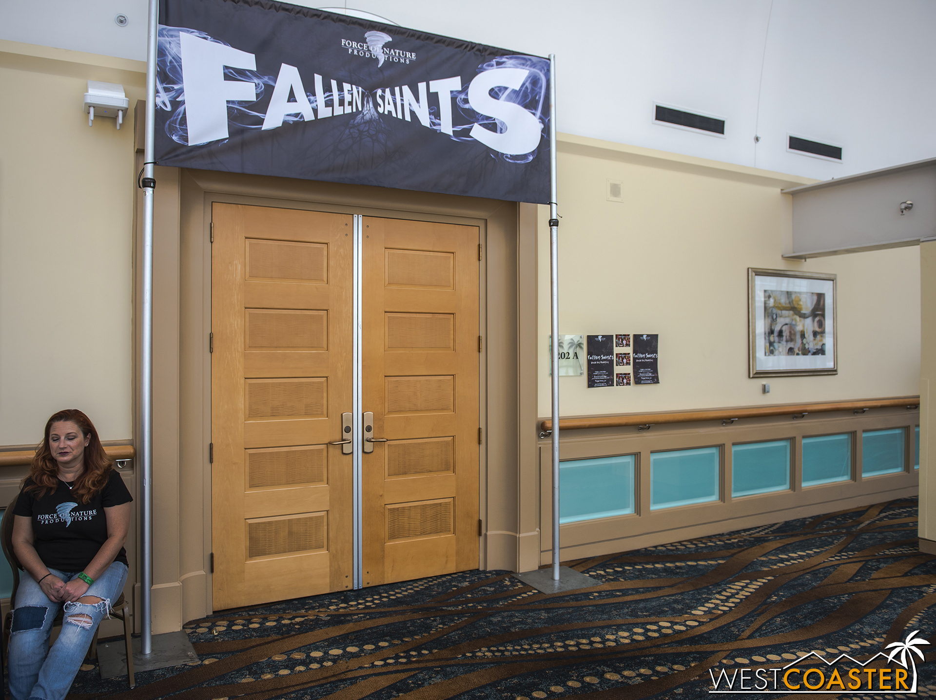 Fallen Saints was one of several show options located on the second floor of the convention center.