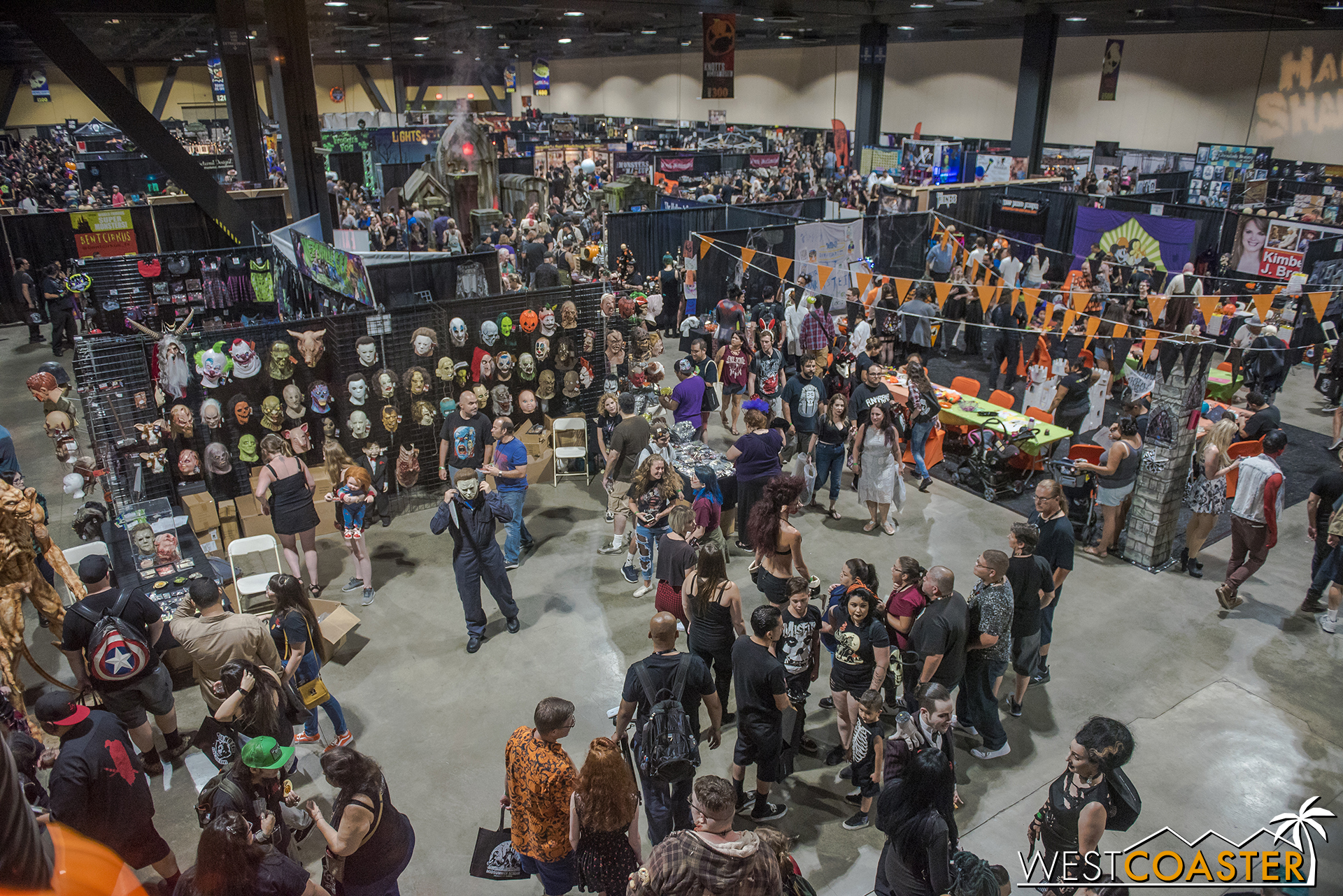 The exhibition hall was packed all weekend--a sign of the great success of Midsummer Scream!