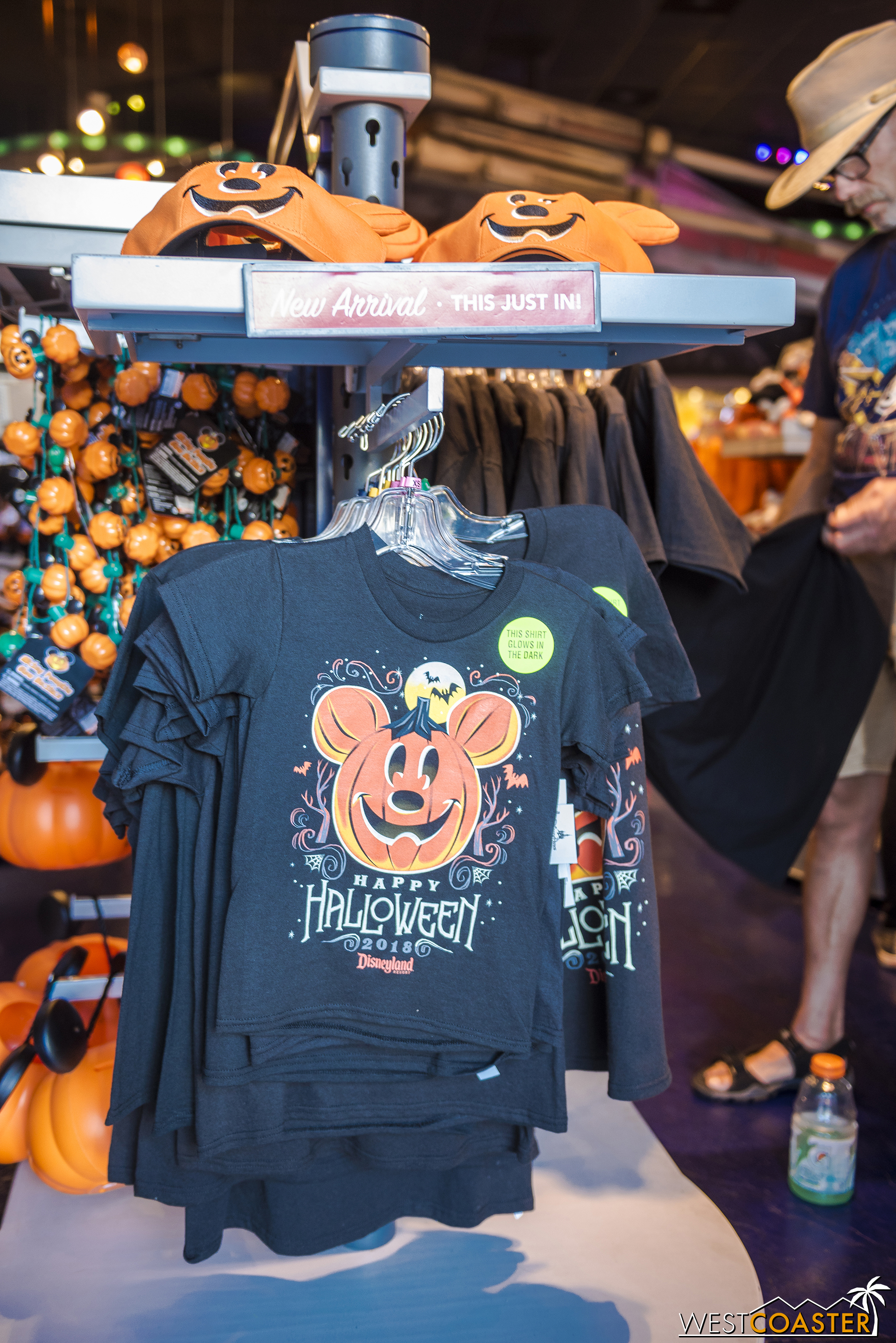 There's even Halloween souvenirs in Tomorrowland.