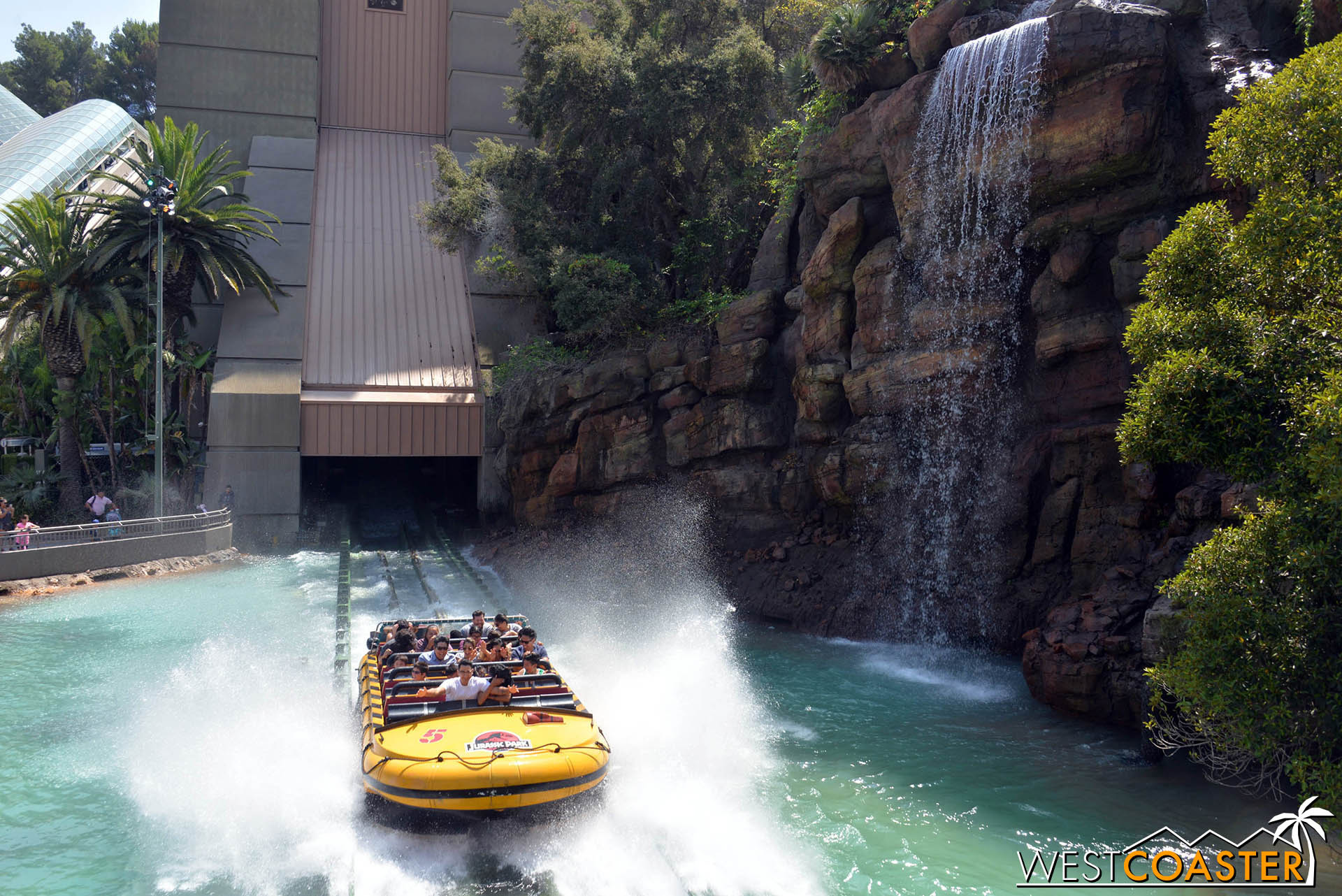 The 85-foot tall, 51-degree final drop was the tallest and steepest of its time when the ride first opened.