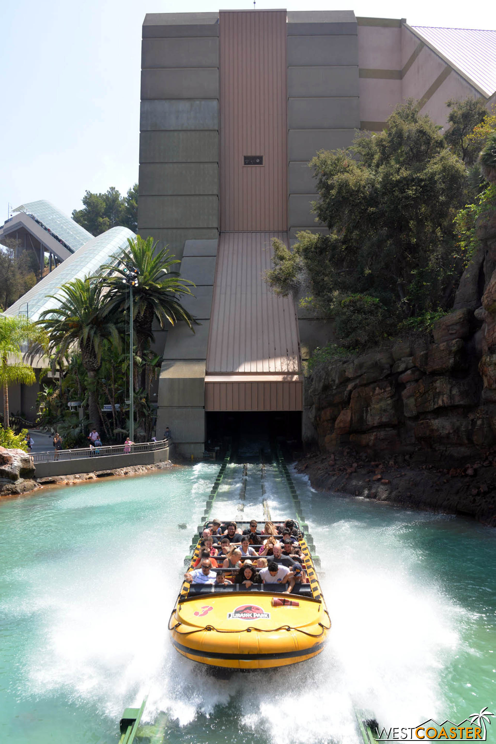 """The boats reached speeds up to 50mph coming out of the """"evacuation slide"""" from the JP Environmental Systems building."""