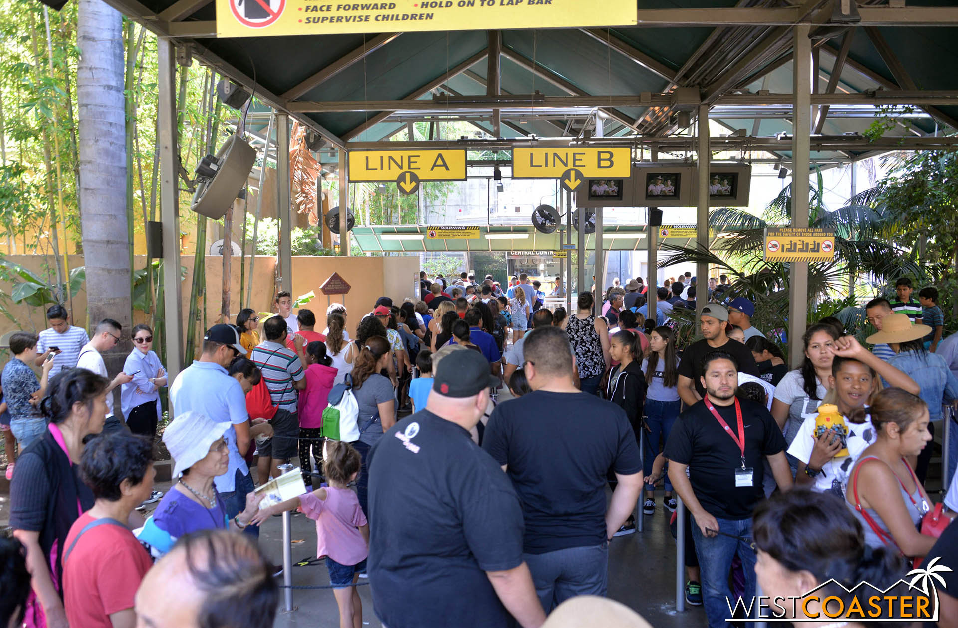 There were a fair amount of people in line on this final day.