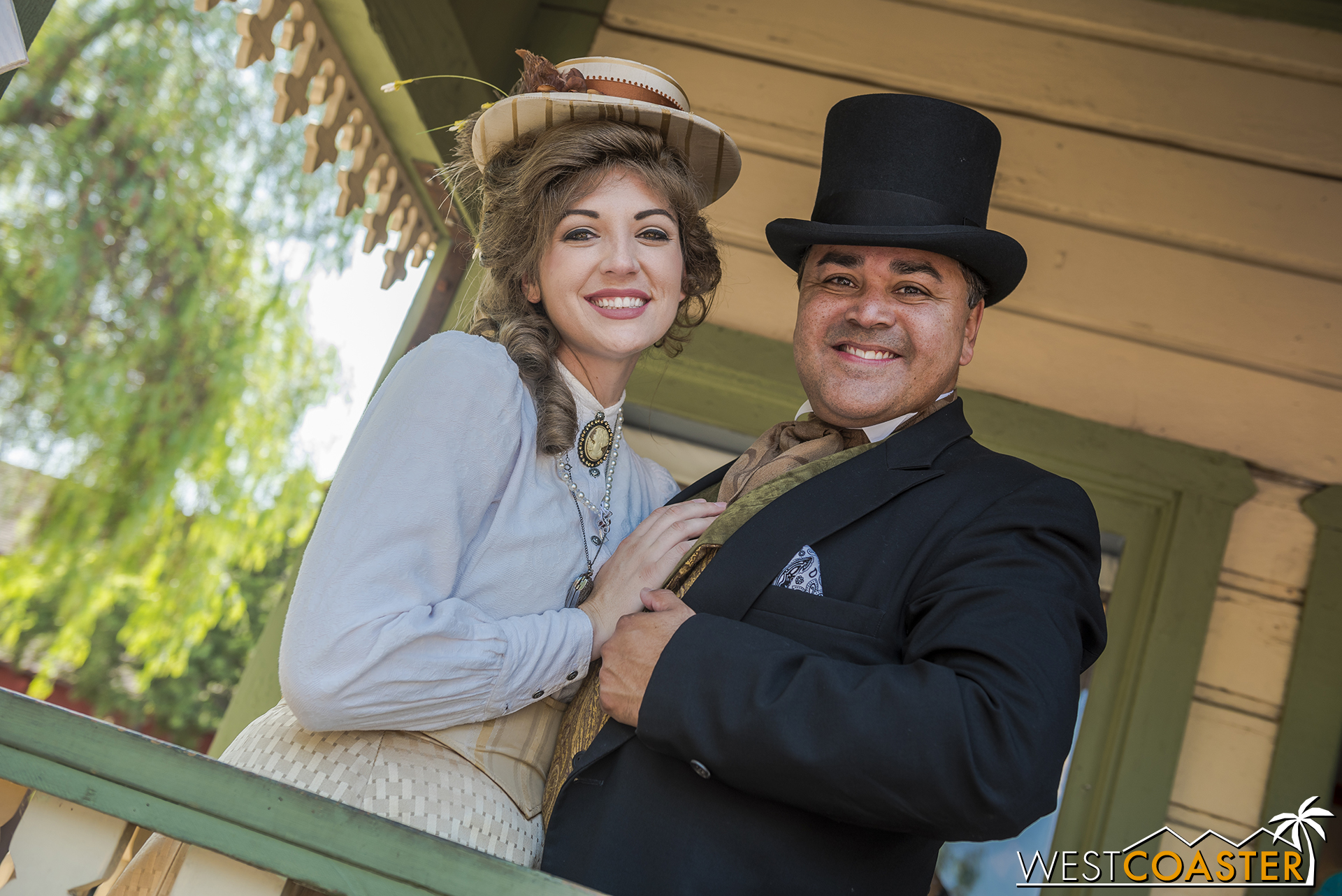 Mayor Horton Parnell and his lovely wife, Pearl, pose in front of Town Hall.