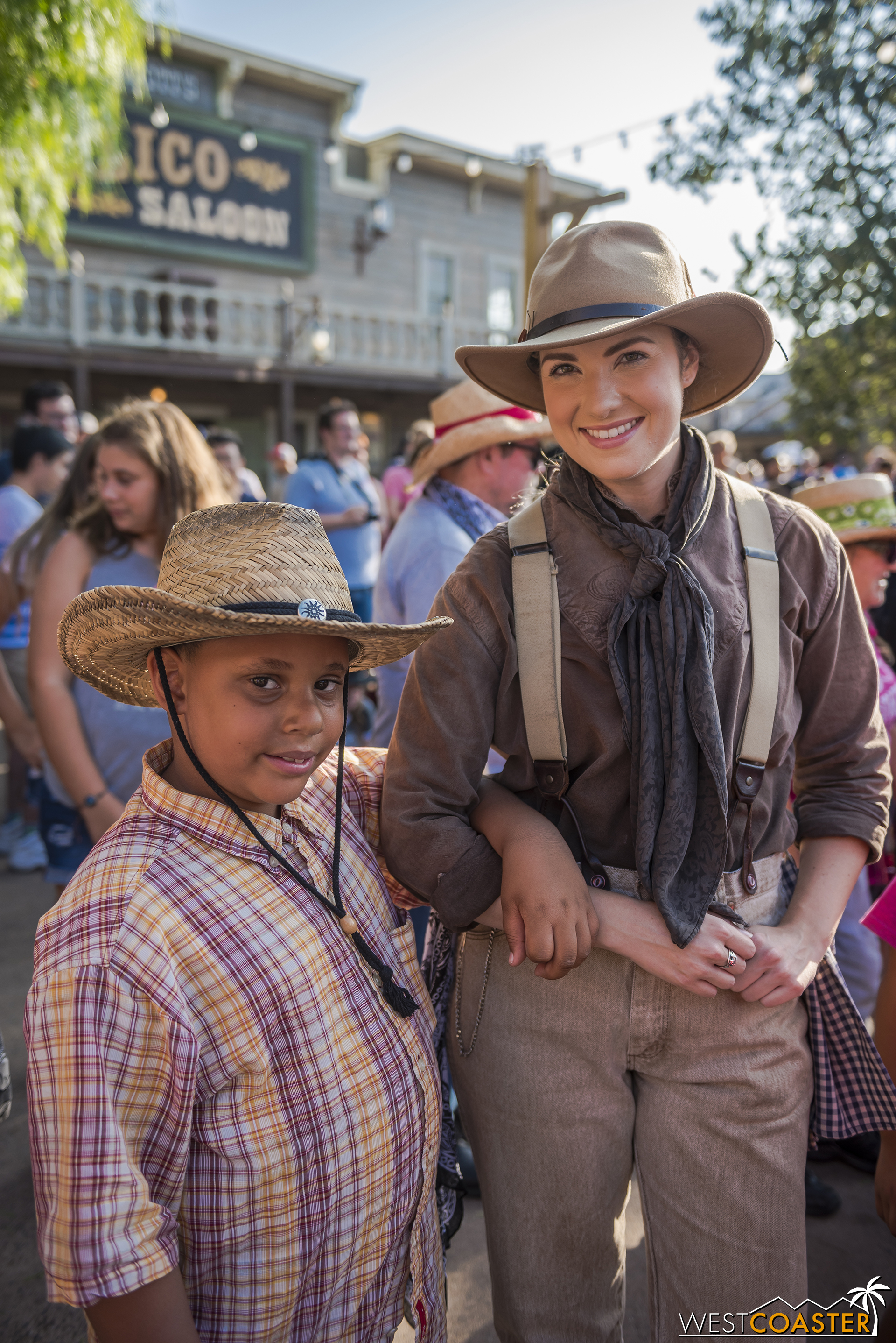 Nellie Simmons brings a young guest to the Calico hoedown.