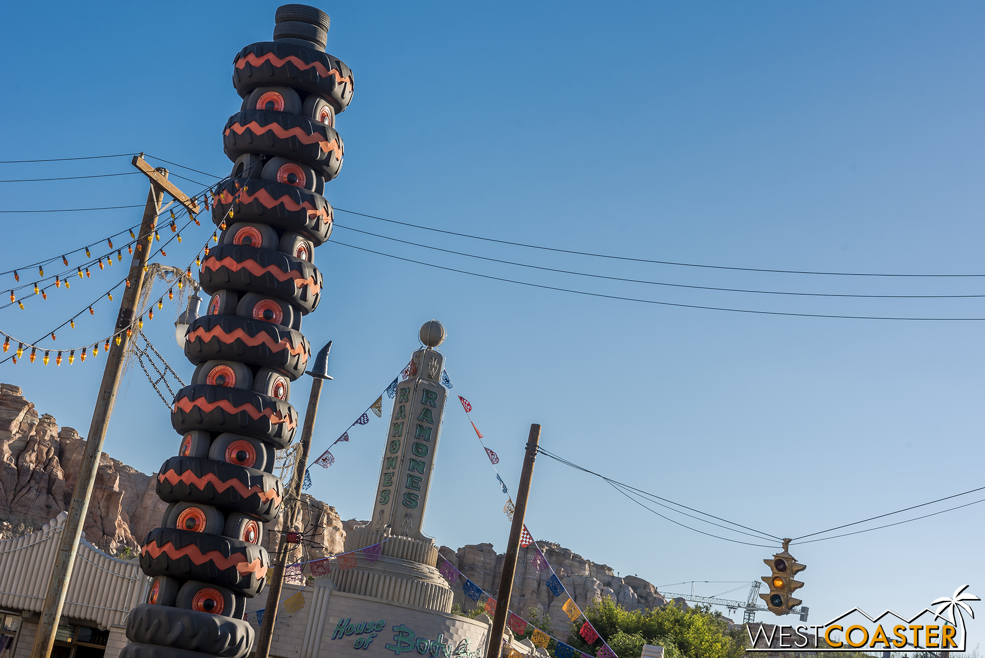 Luigi's leaning tower has a fall flair.