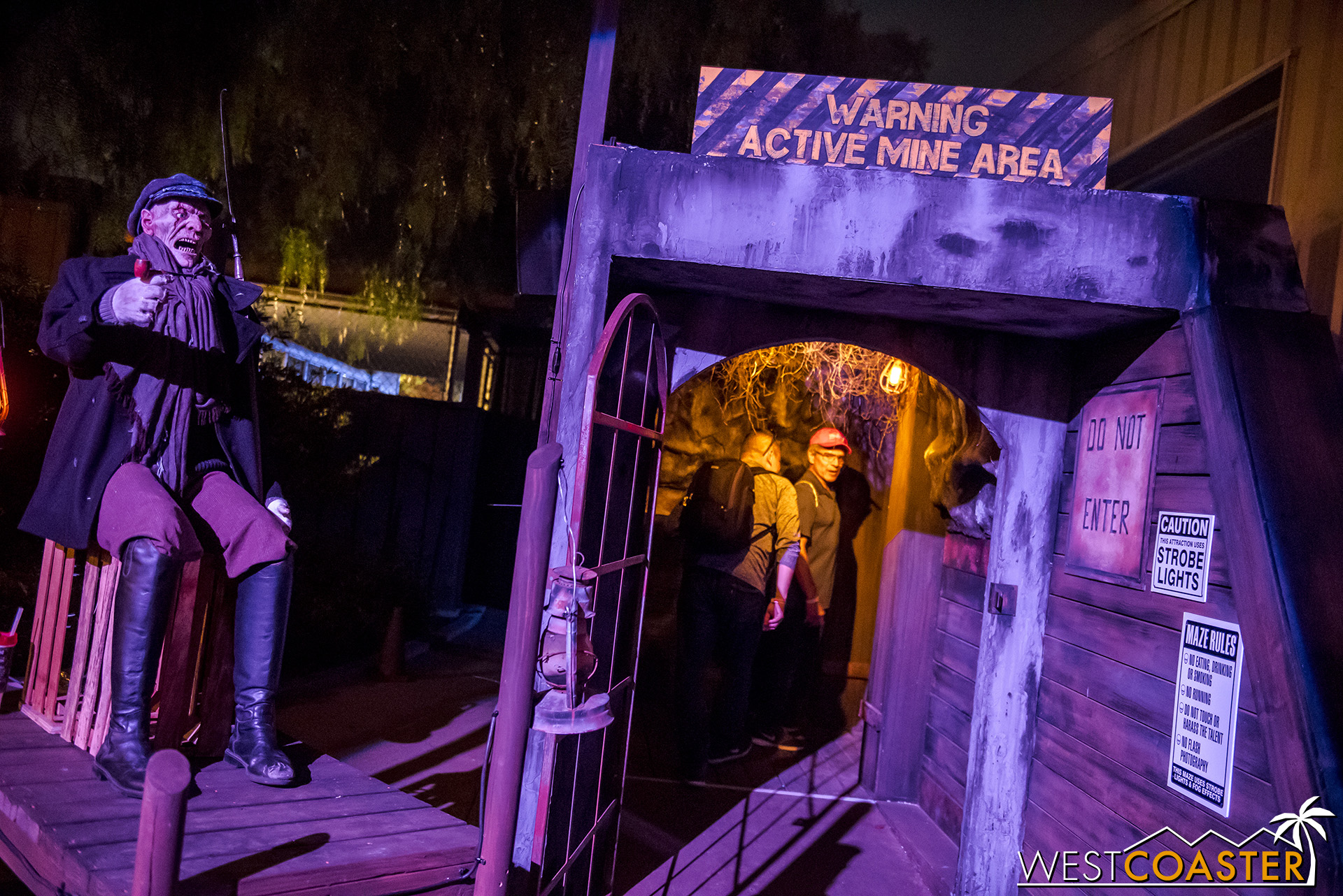 Entering The Depths. The captain animatronic did not function opening weekend.