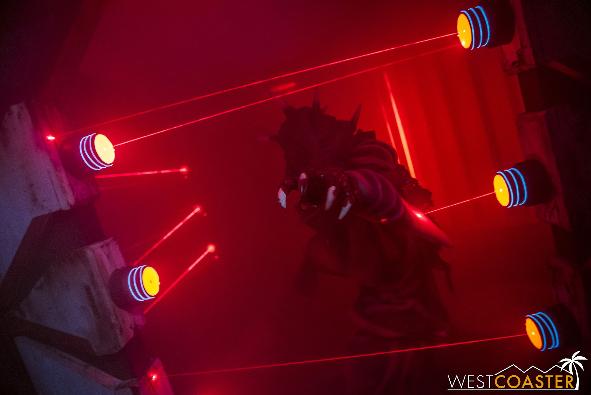The sets and innovative use of lighting definitely help Dark Entities stand out!