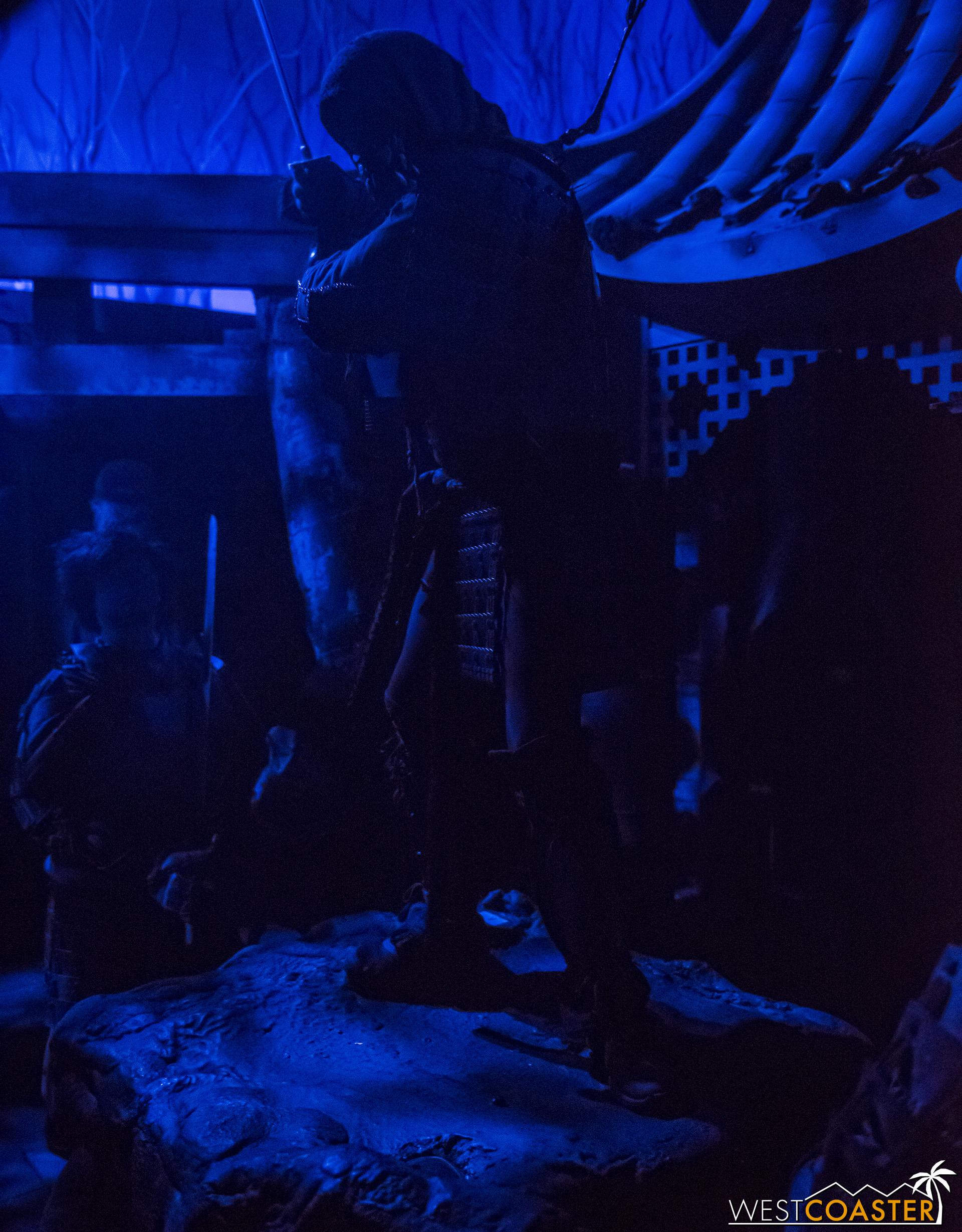 A samurai battles in the finale scene of Shadowlands.