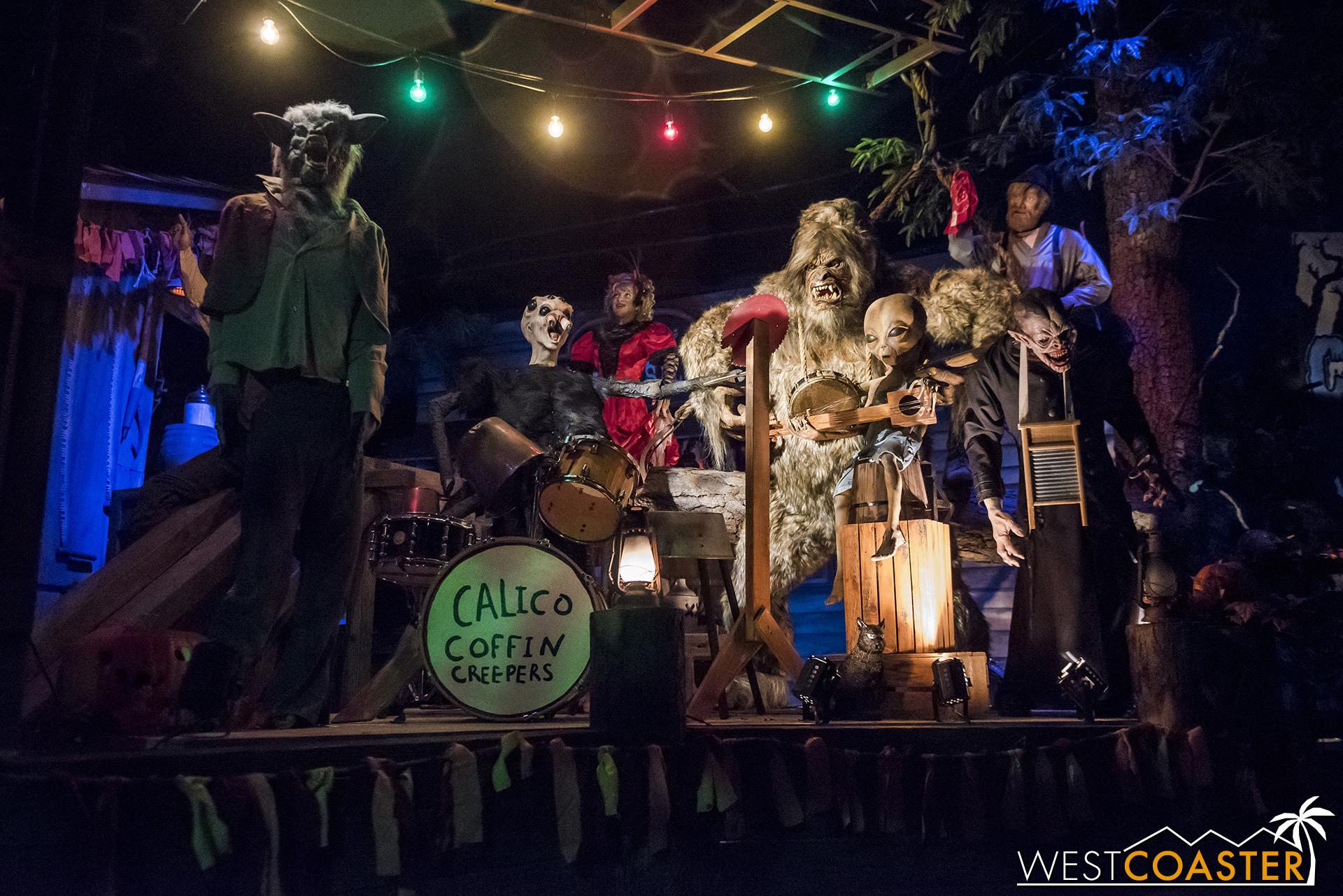 Music for the Halloween Hootenanny is provided by Krazy Kirk and the Hillbillies.