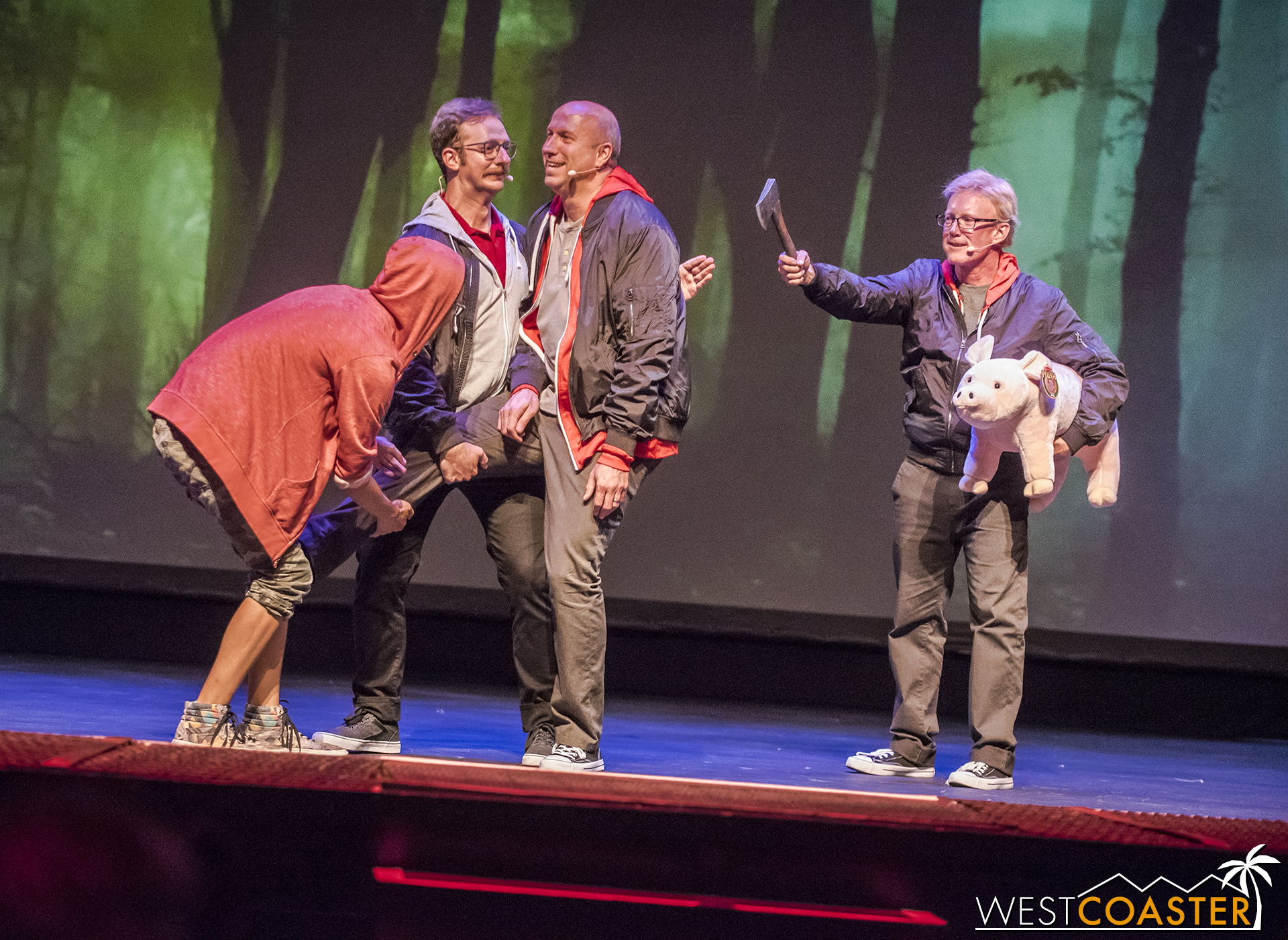 One of the games played involves an audience member posing the actors as if they were puppets to advance a scene. It's exactly the same as a game done on  Whose Line .