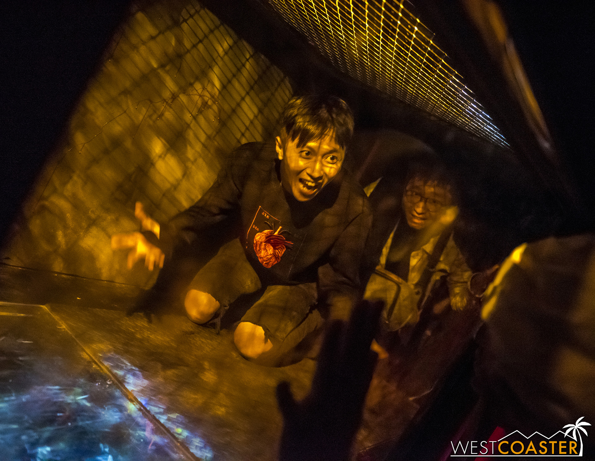 Unlucky guests will have to crawl through a tunnel normally reserved for slaughtering livestock.