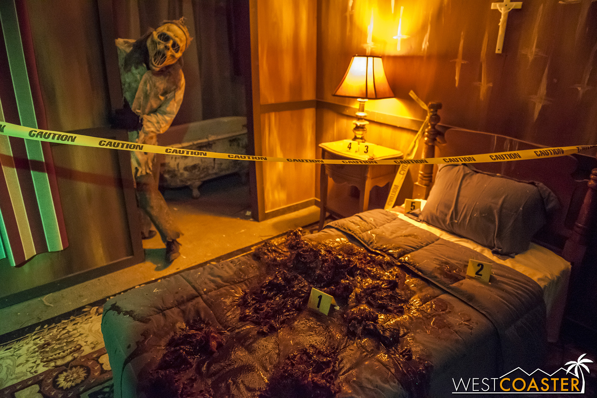 We're talking Halloween Horror Nights level gore!  And a mysterious ghostly killer.