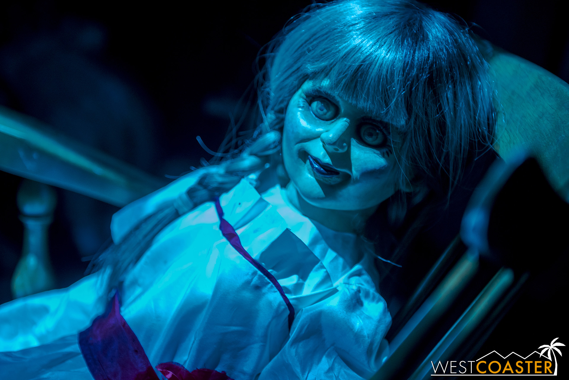 Naturally, guests encounter the wickedly terrifying Annabelle doll.