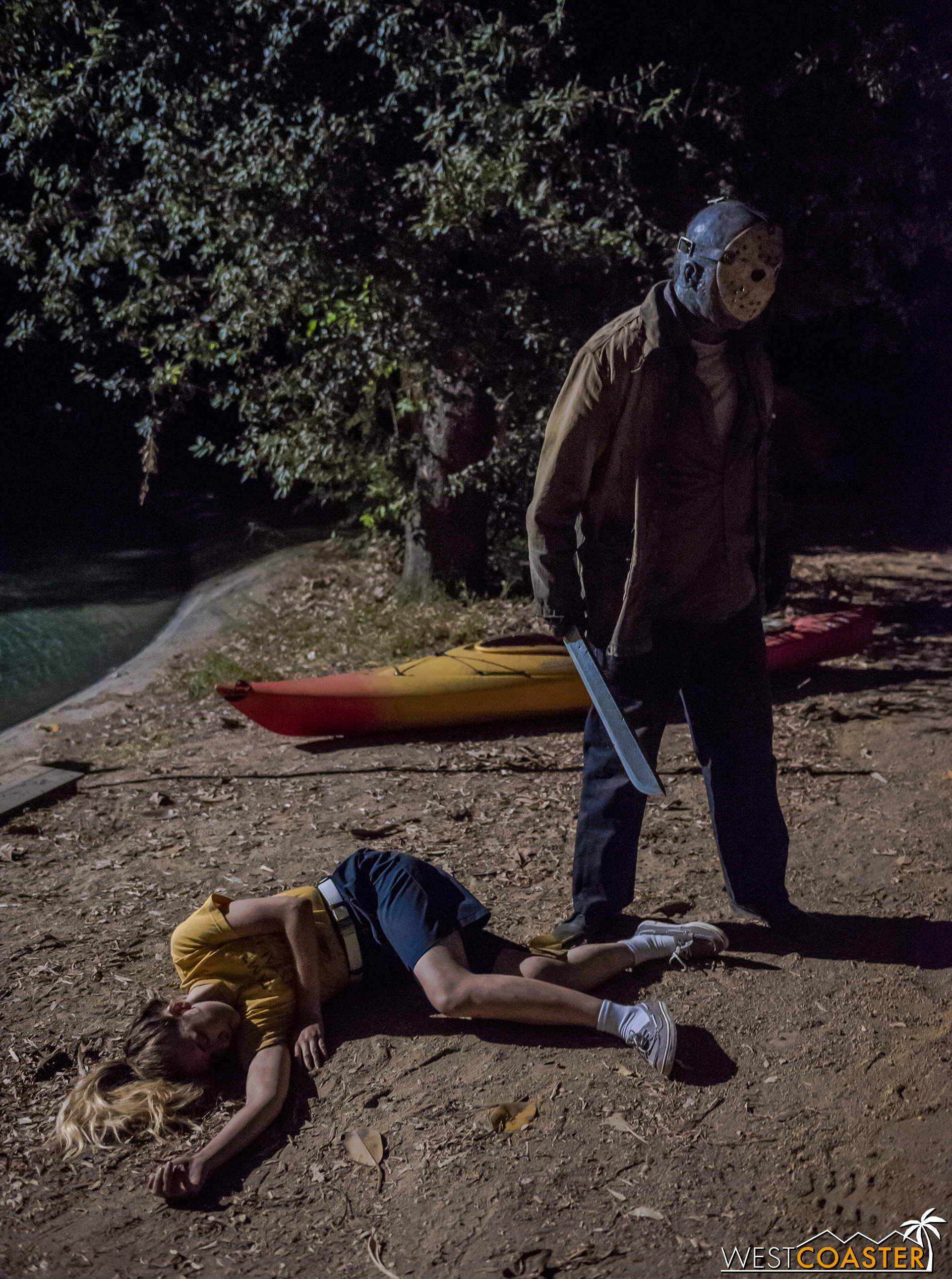 Note to self: don't go out at night at Camp Crystal Lake.  Jason likes to hang out and be slice-y.