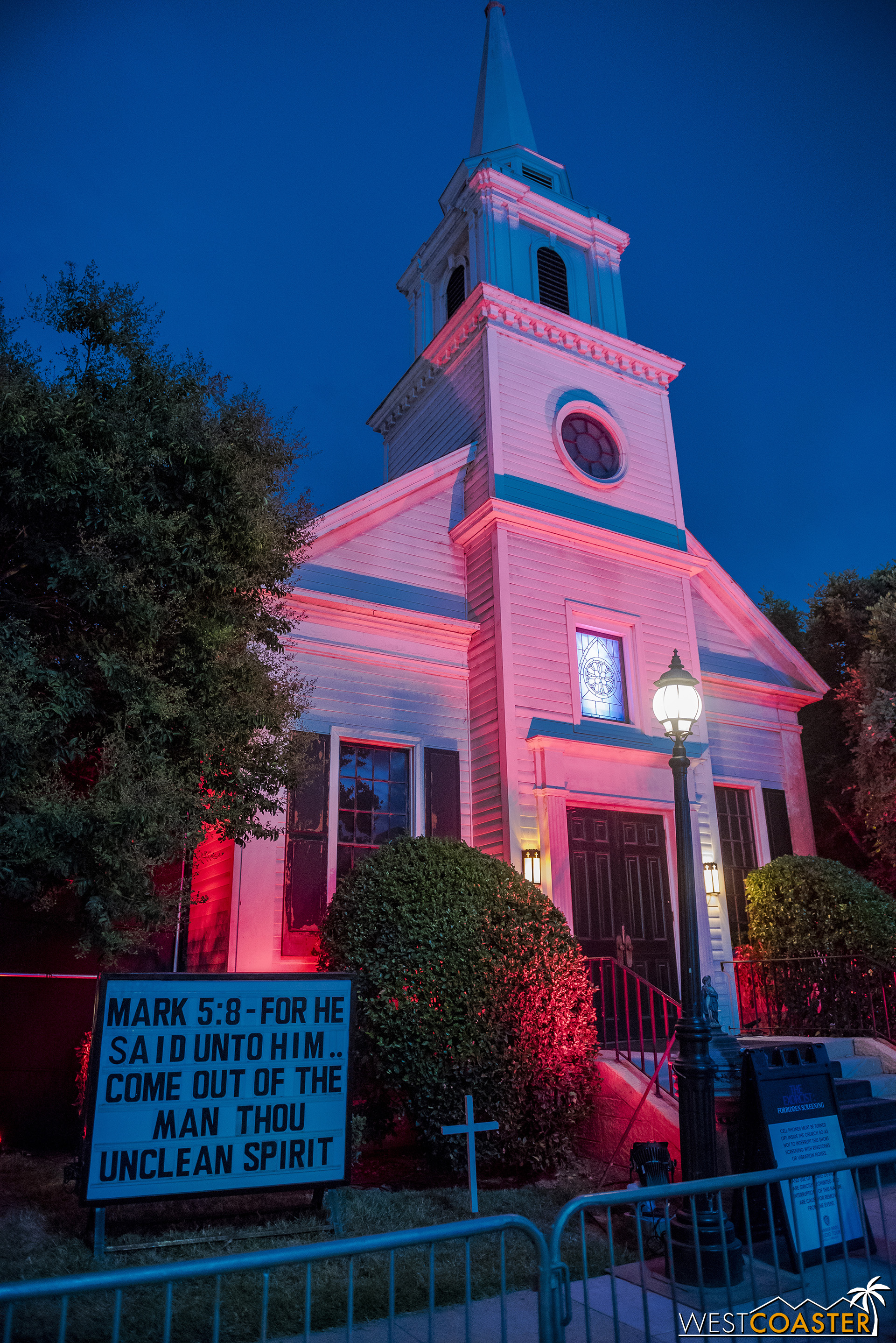 The church makes a fitting setting for this  Exorcist  attraction.