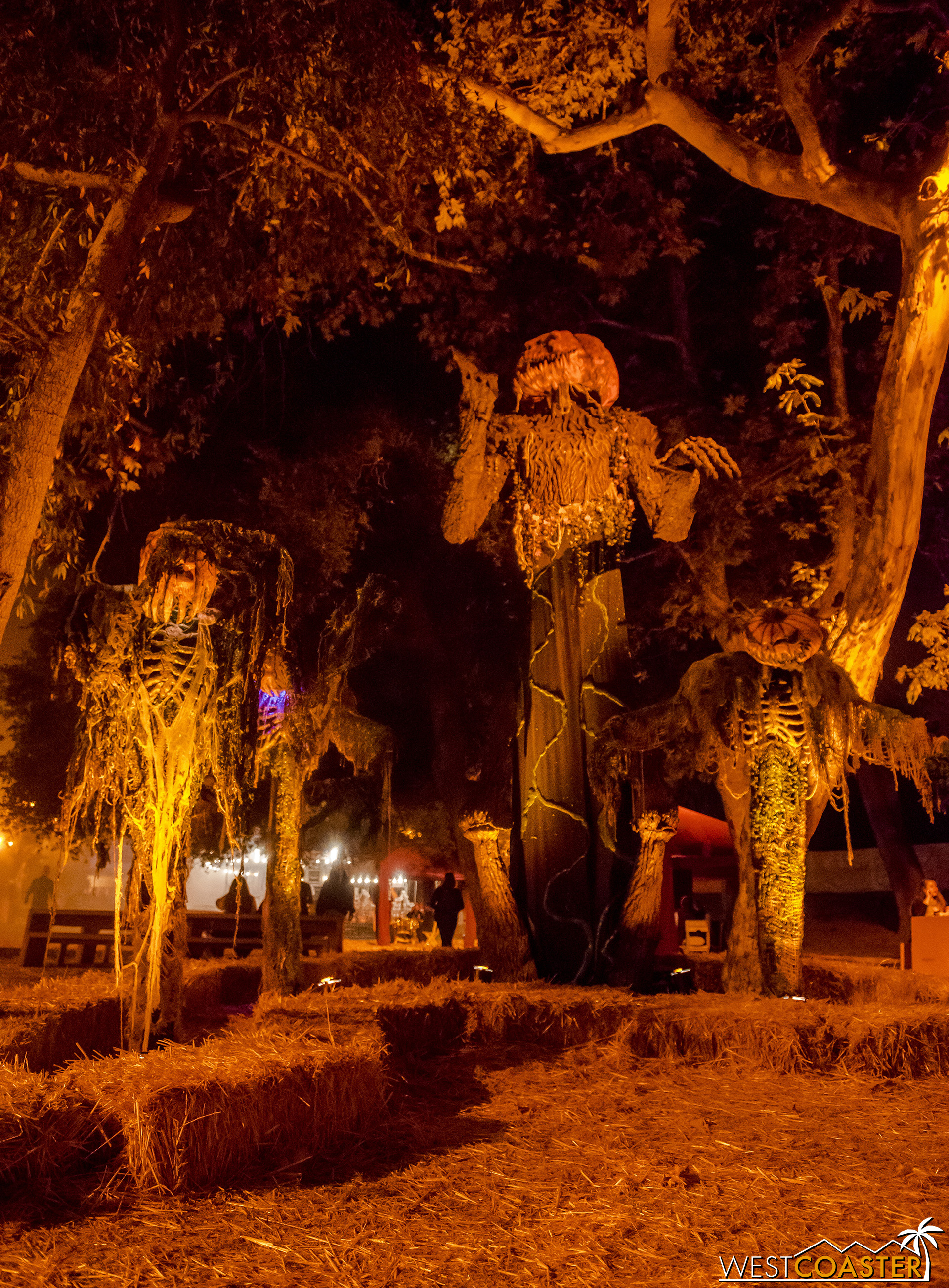 There is some nice atmosphere around the Purgatory scare zone area.