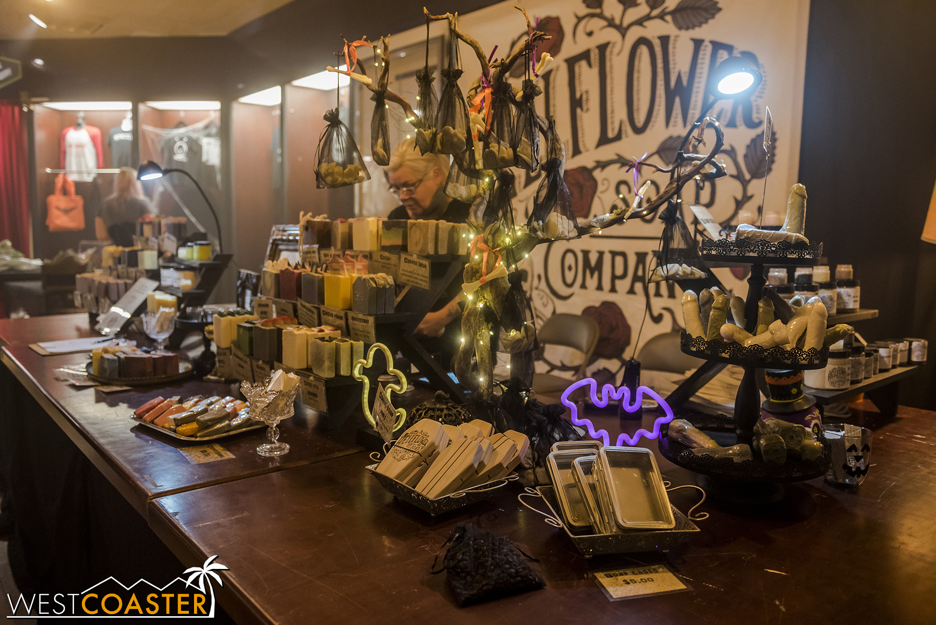 There are a variety of vendors and booths at Sinister Pointe.  It's like a miniature version of the Midsummer Scream expo hall.
