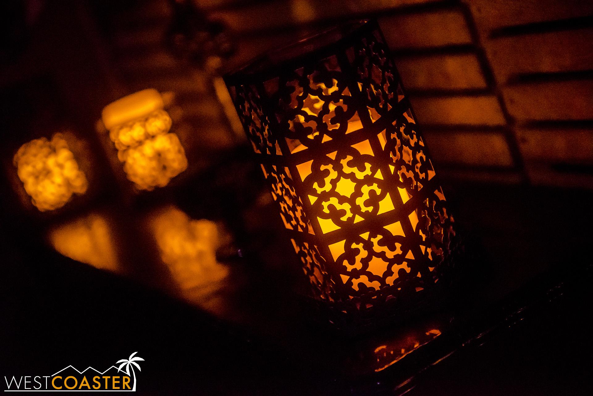 Plenty of candlelights enhance the ambiance.