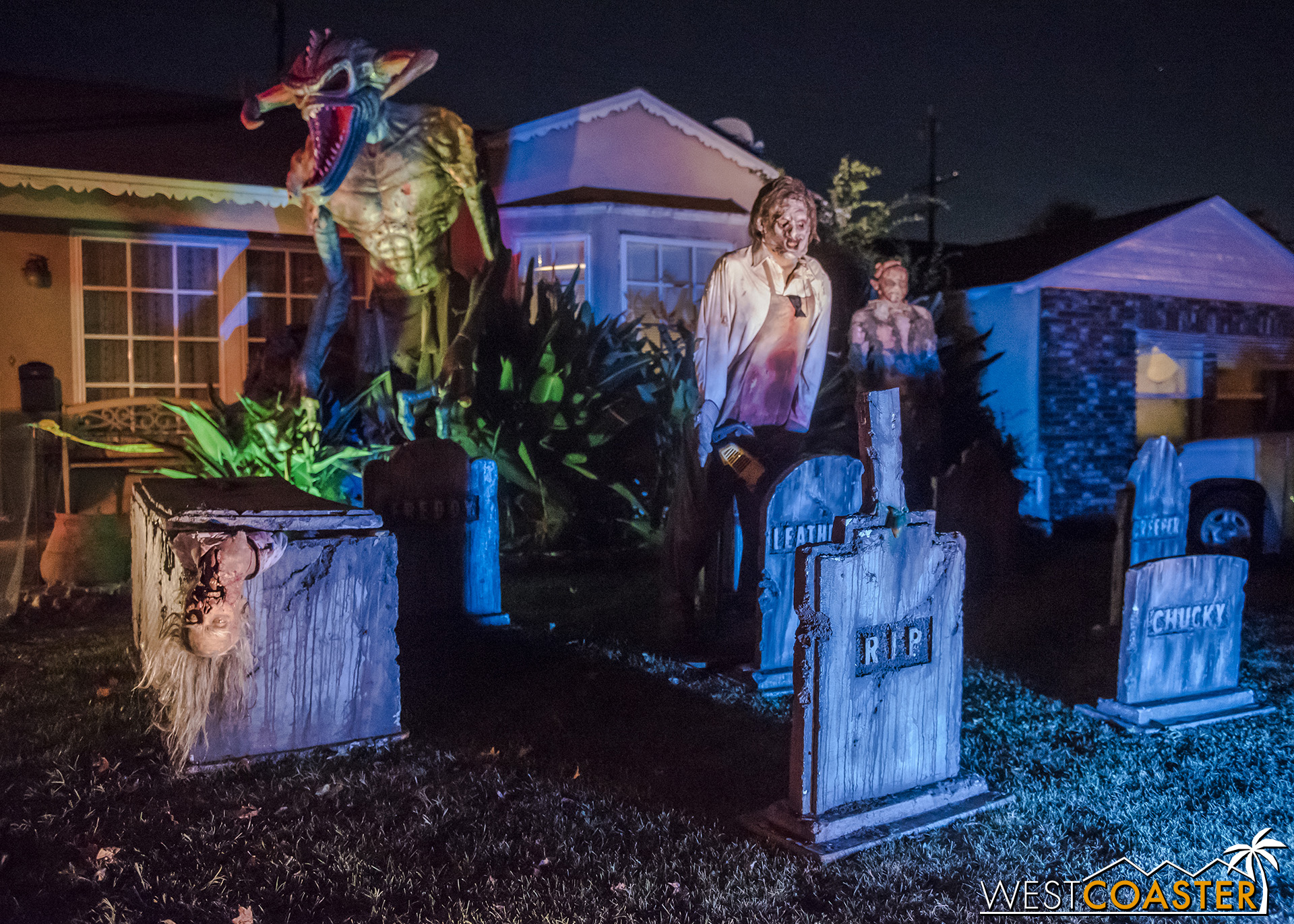 The villain-filled front yard of The Backwoods has some familiar infamous faces.