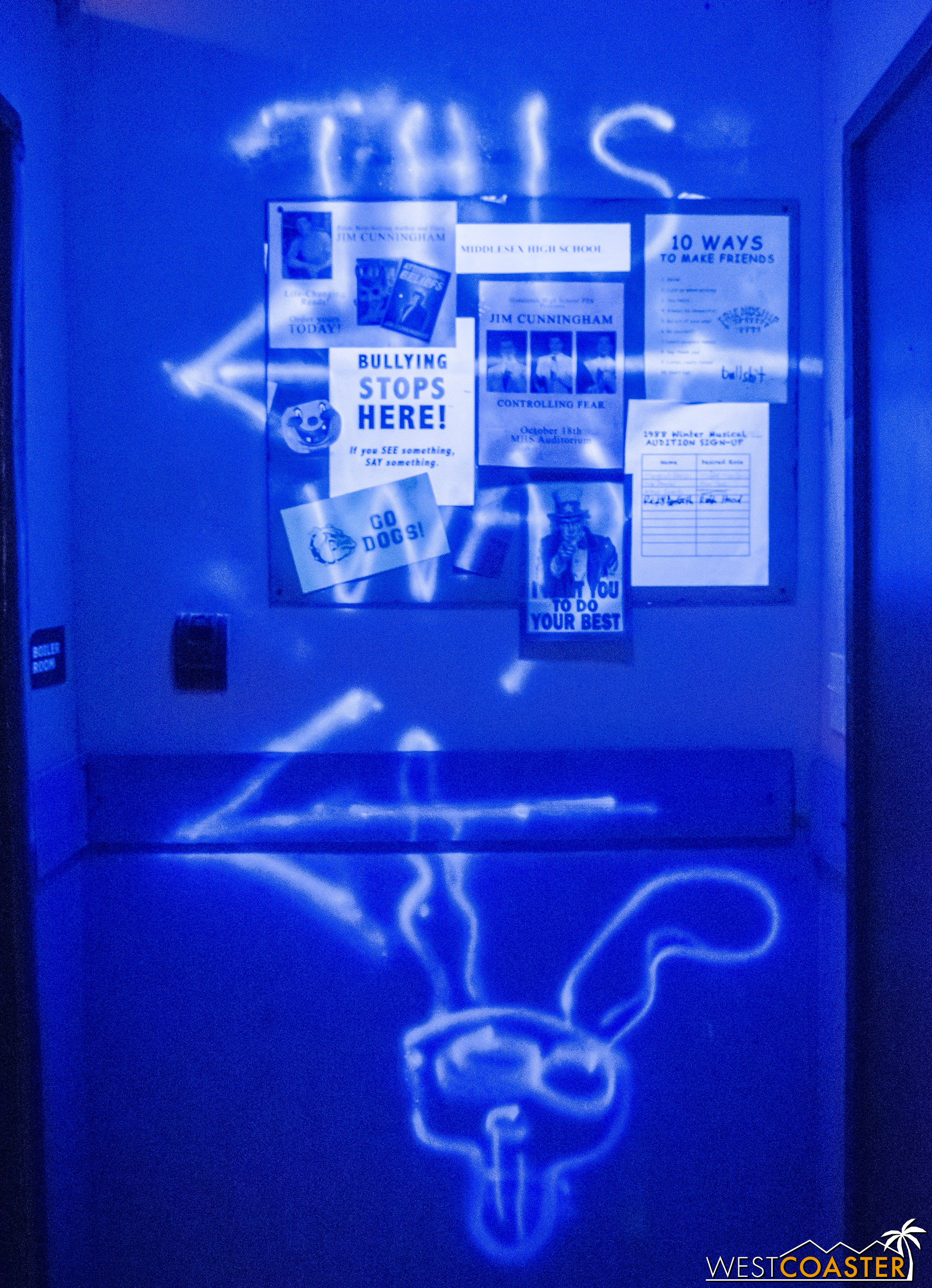 Follow the clues and the rabbit to progress through the Donnie Darko Experience.