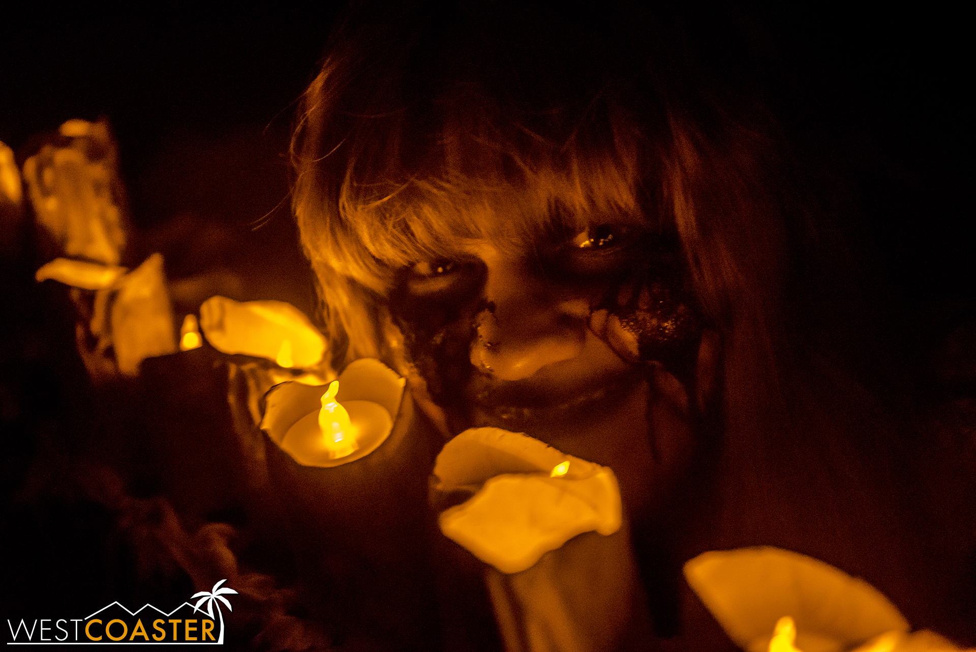 Dim candlelight is often the only illumination in many of the maze spaces.