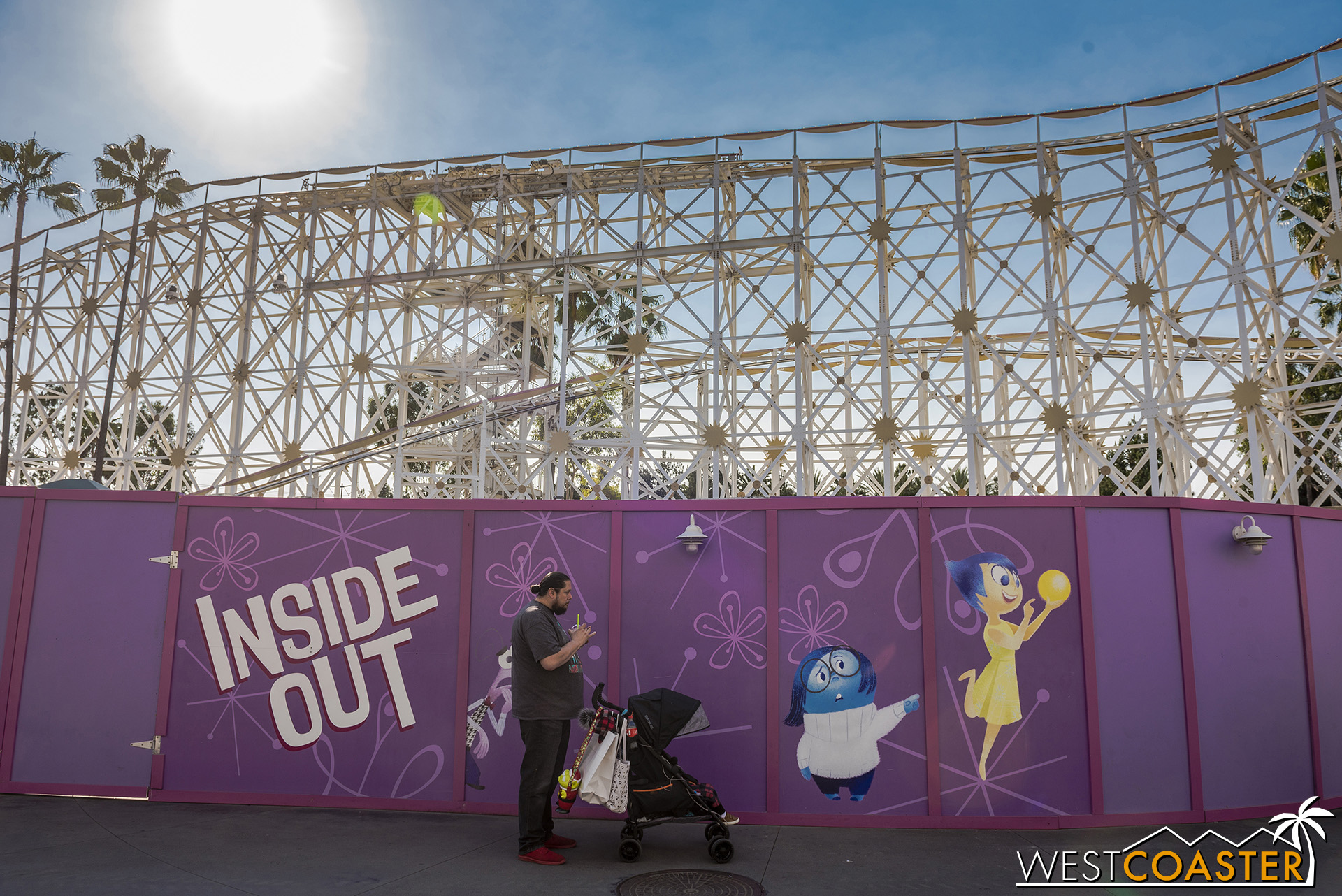 The Inside Out attraction area will be quite different from what Pixar/Paradise Pier has seen before.