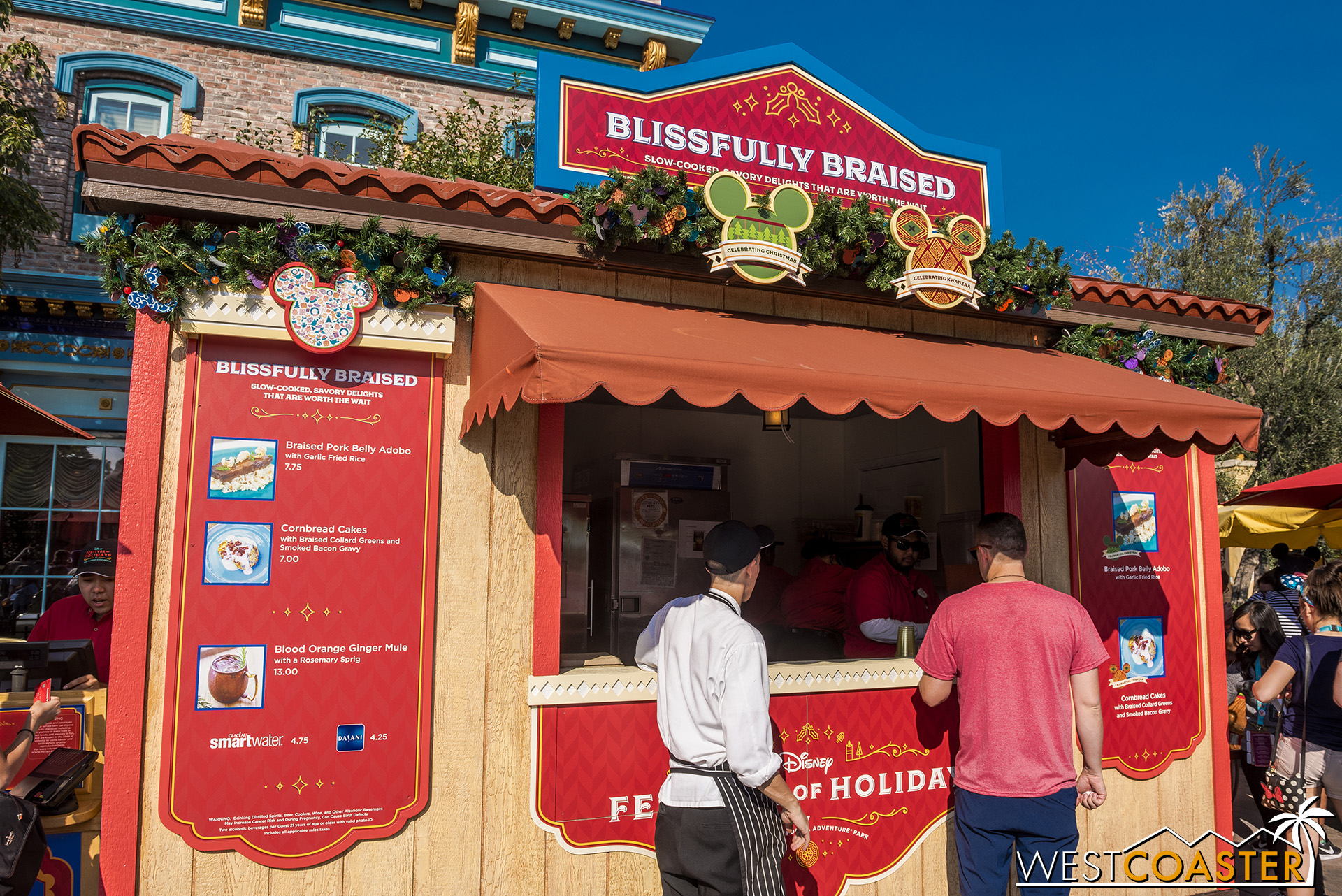 And of course, there are a lot of little food booths as part of the Festival of Holidays culinary attractions.
