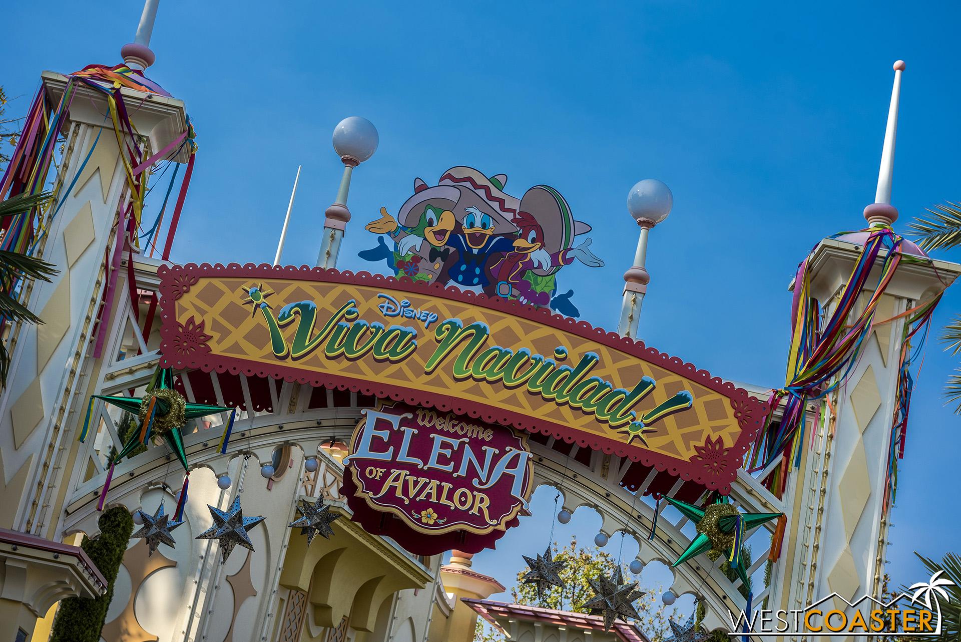 And ¡Viva Navidad! is back in its regular location over by the Boardwalk restaurants, next to Goofy's Sky School!