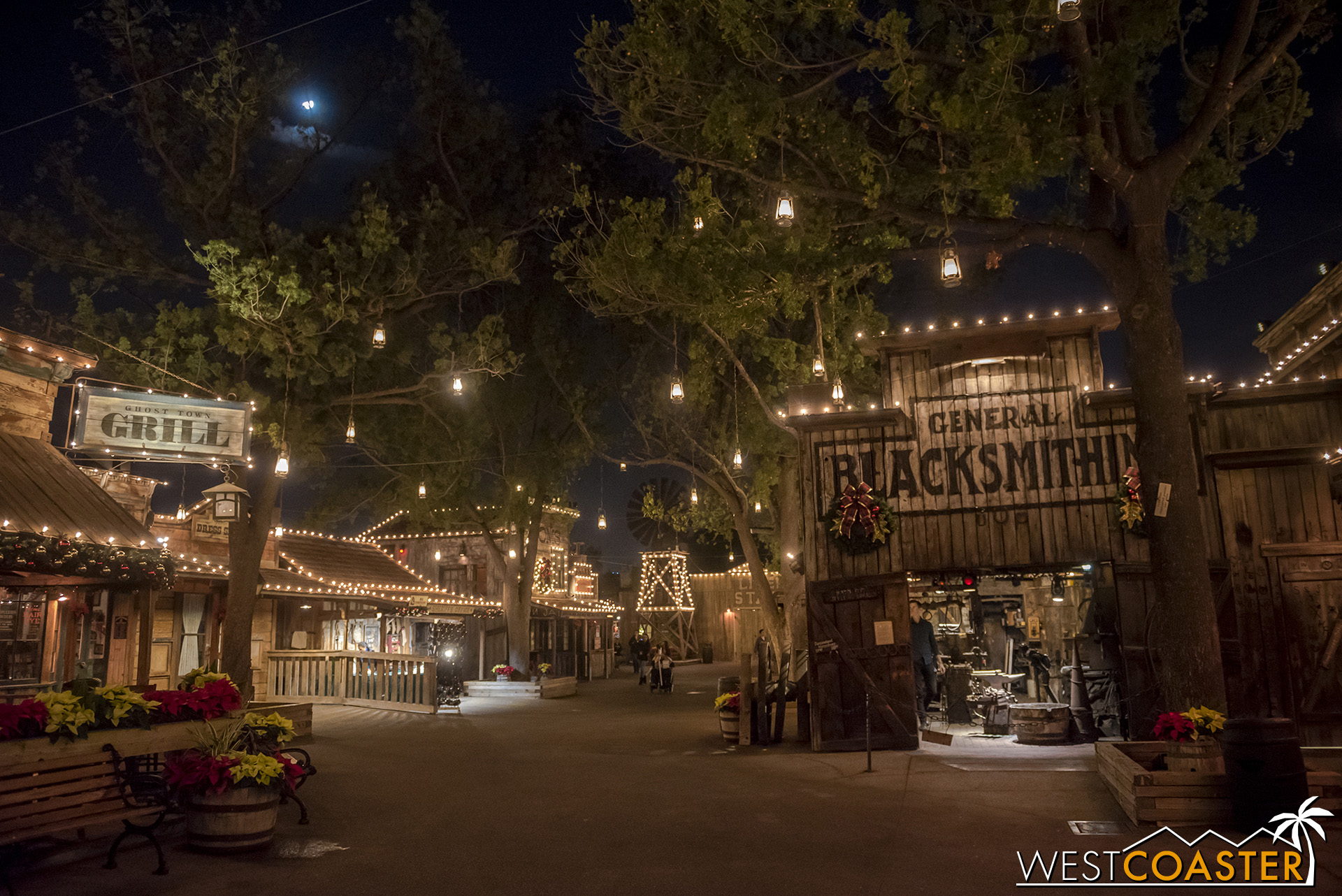 Ghost Town is gorgeous at night.