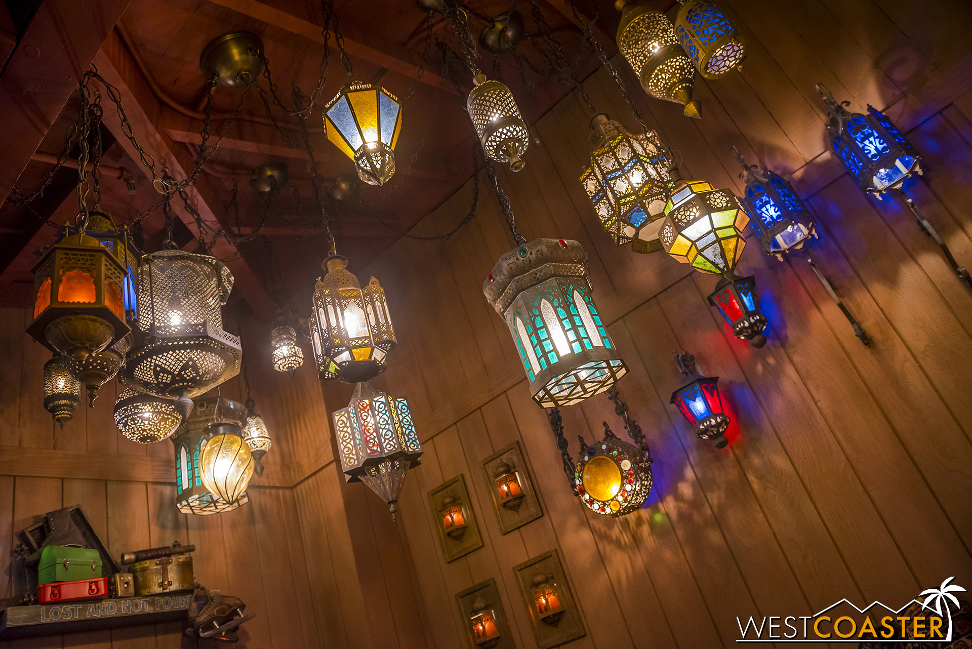 If these look familiar, they were reclaimed from the area's former use in Aladdin's Oasis.
