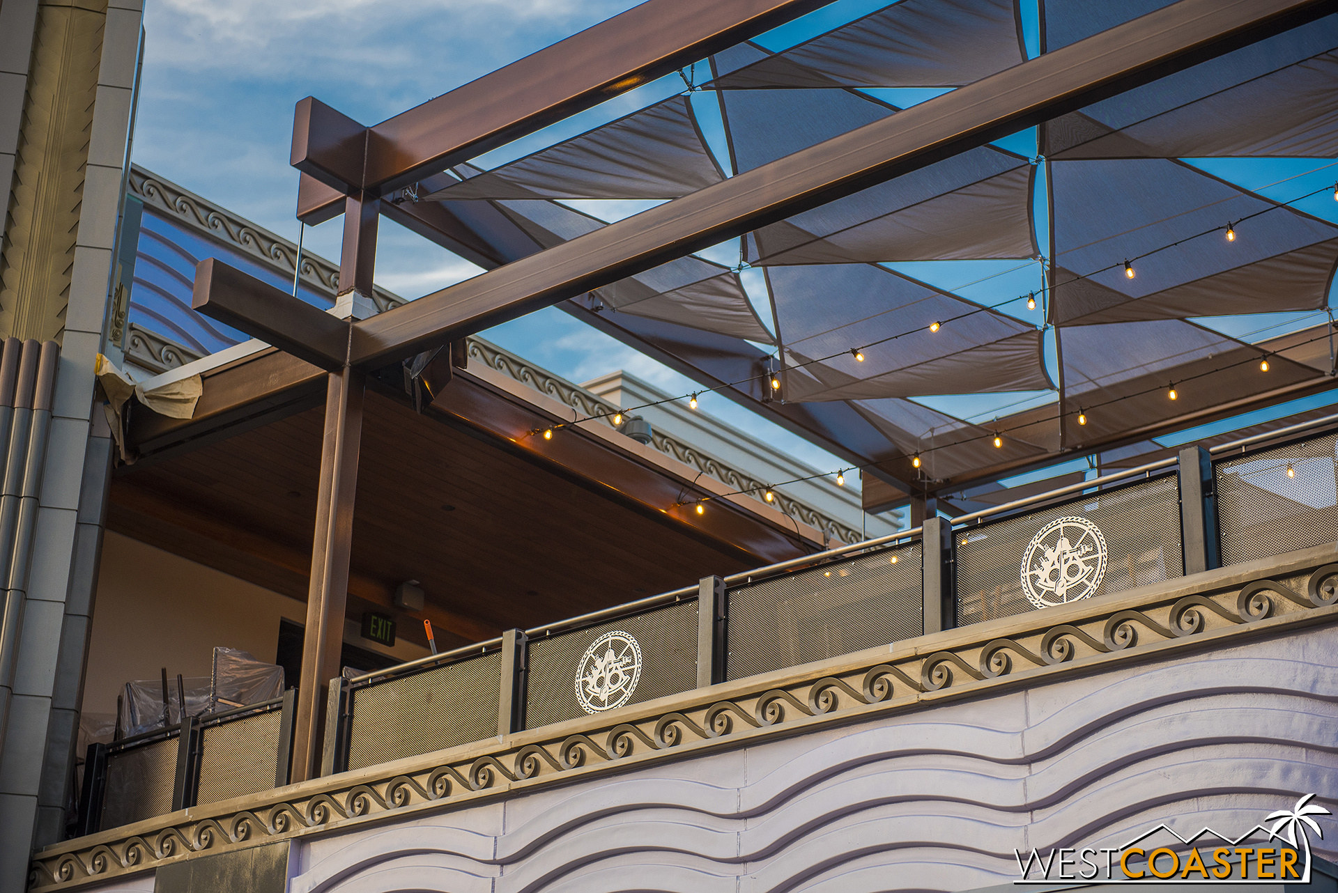 Ballast Point will also have outdoor seating over the roof of Wetzel's Pretzels as well.