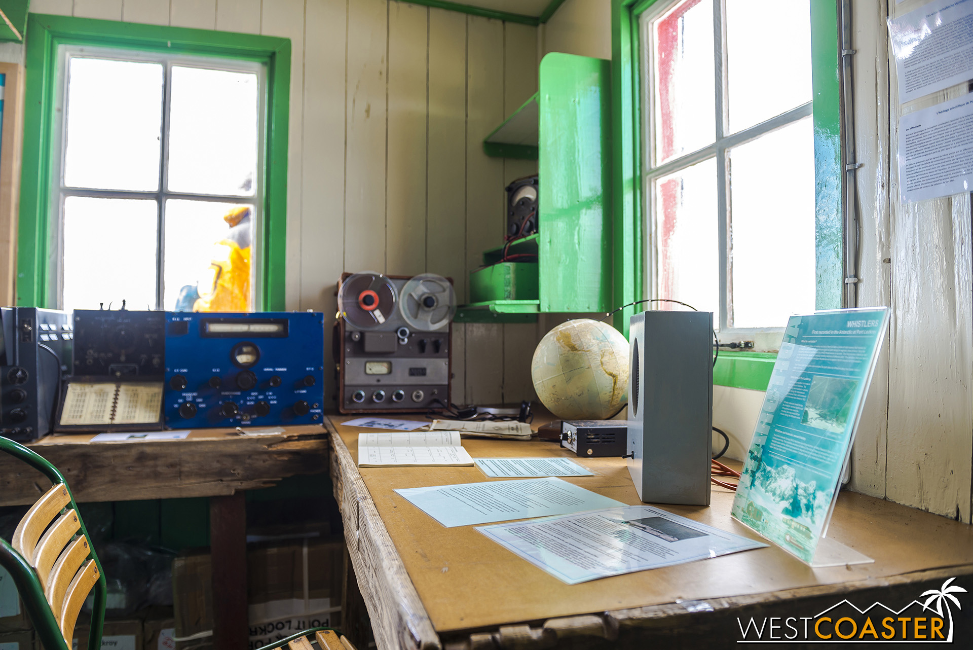 Radio and scientific equipment for observations and communication.