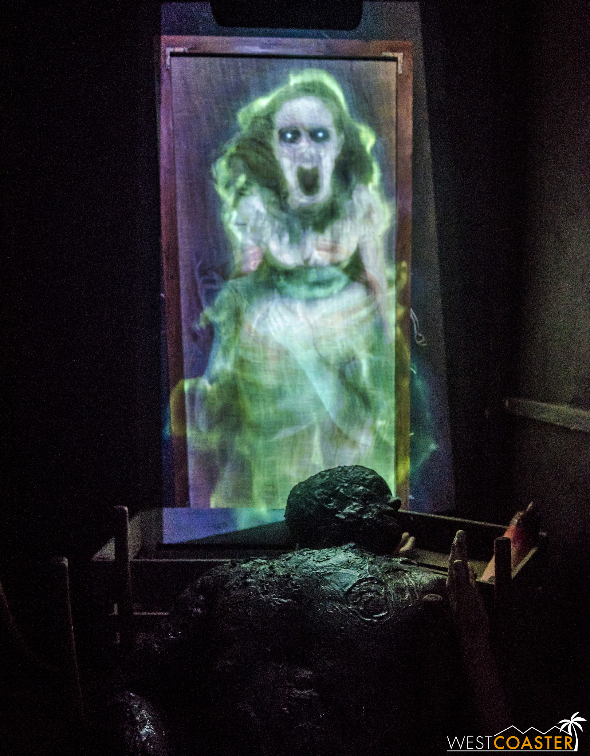 Some special effects scares made up for a more limited number of live monsters here.