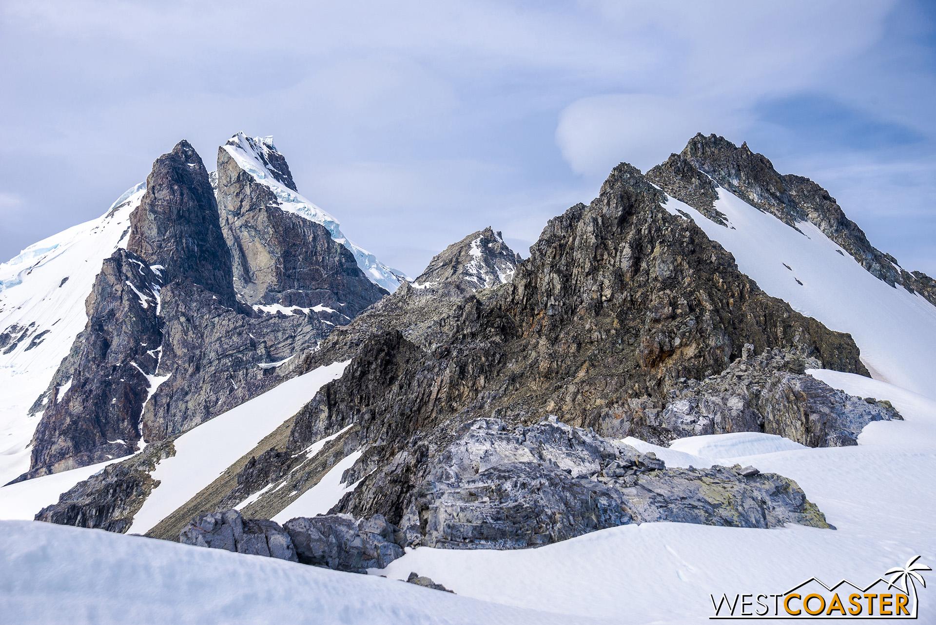 The dramatic peaks of the Antarctic peninsula!