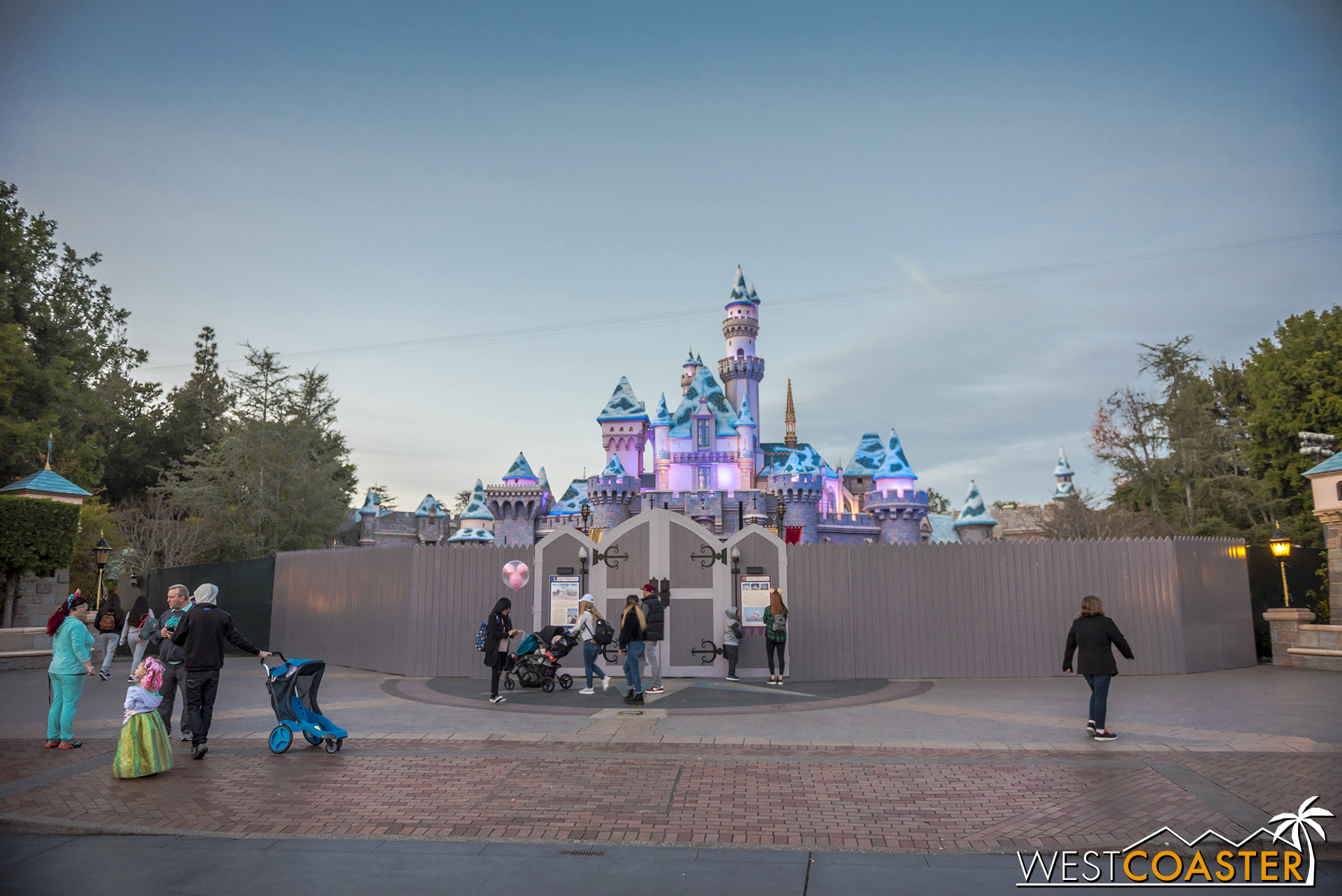 Sleeping Beauty Castle is also under refurbishment.