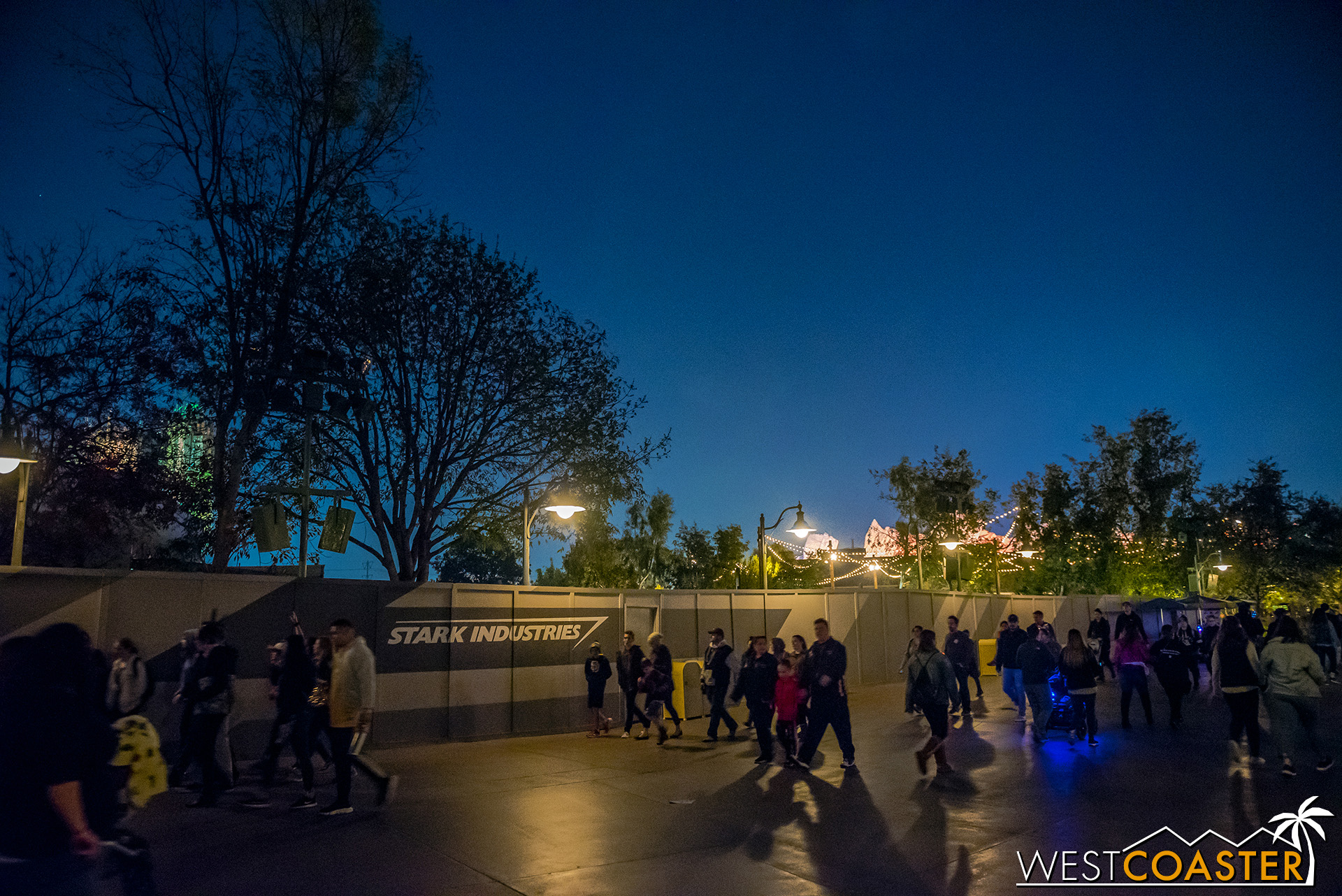 Another nighttime look at Marvel Land.