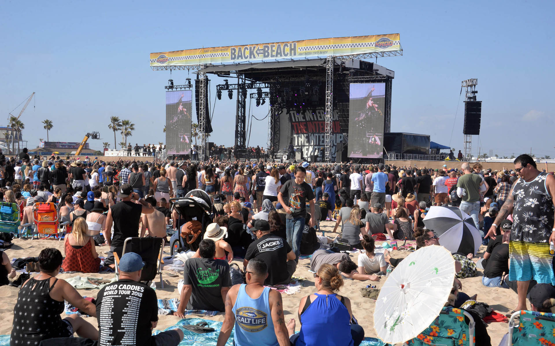 Crowds enjoy the sun and music at last year's Back to the Beach Festival. (All photos by Dan Angona.)