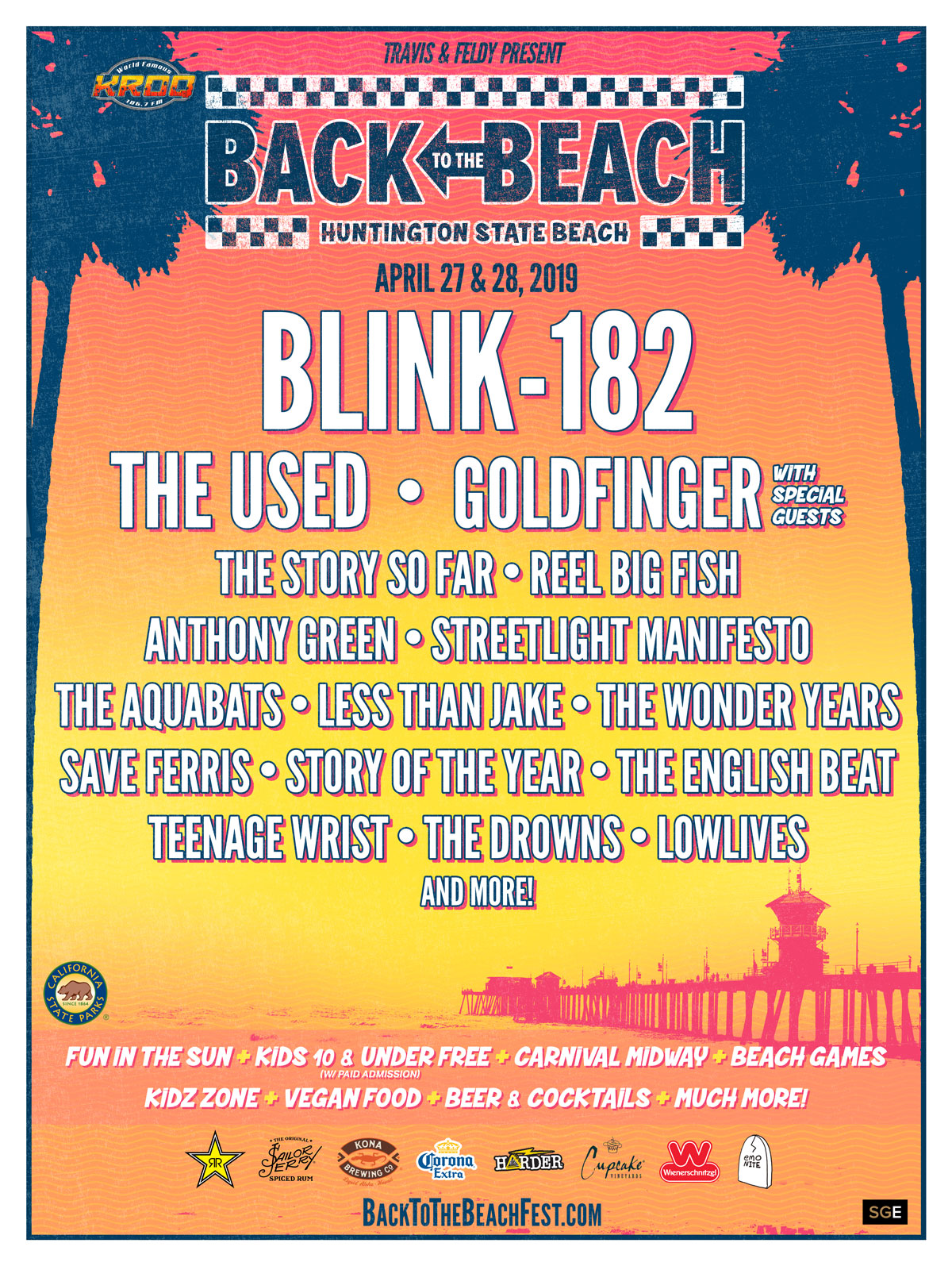 Festival poster, courtesy of Back to the Beach Festival.