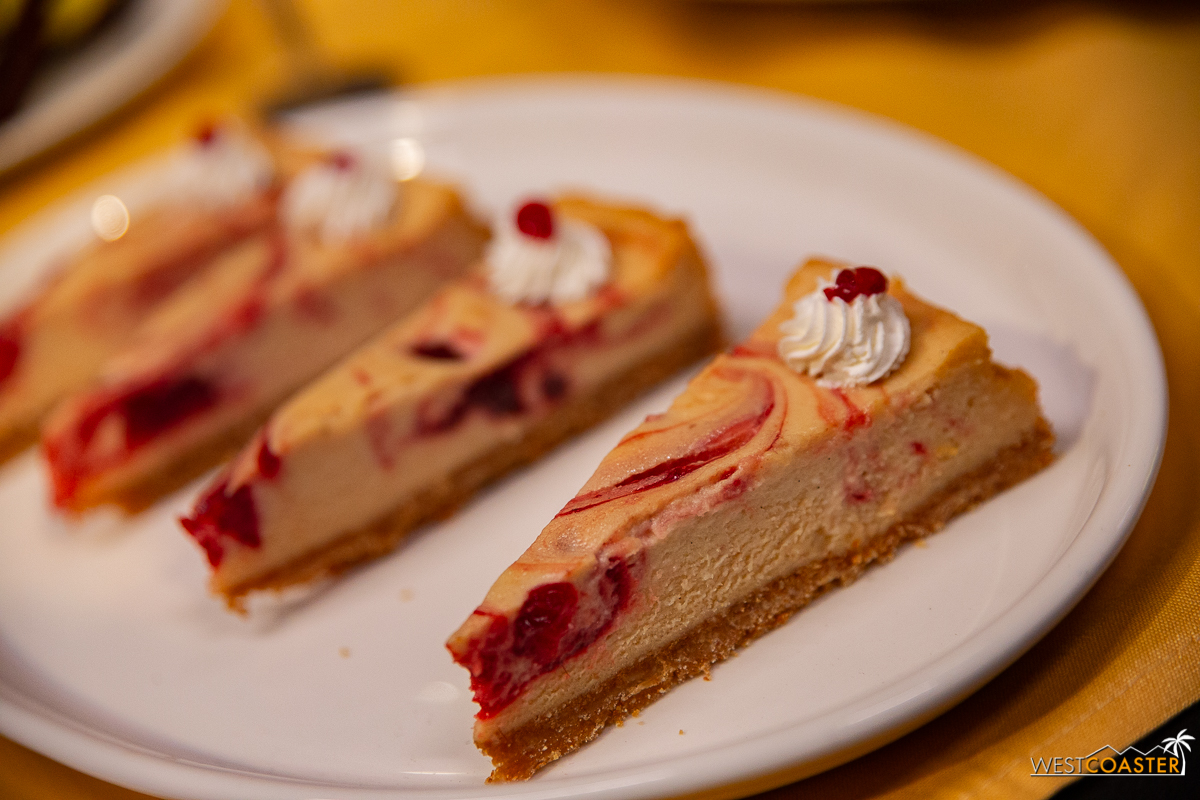 Peanut butter and jelly cheesecake. Sounds weird, TASTES AHMAYZANG.