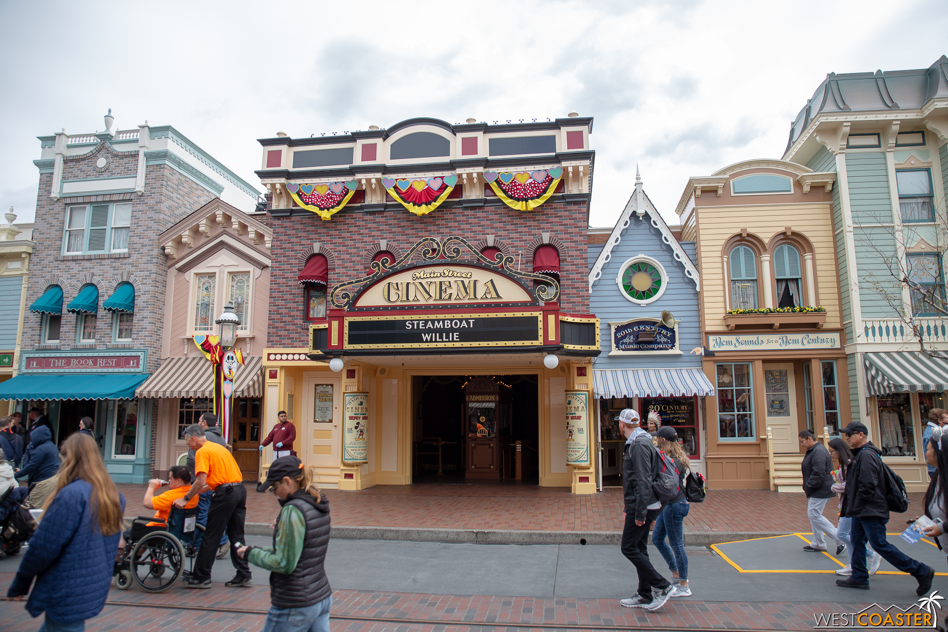 They repainted the entire thing to represent Mickey, and it's basically the coolest. Yellow on bottom for the shoes and black, white and red up top!