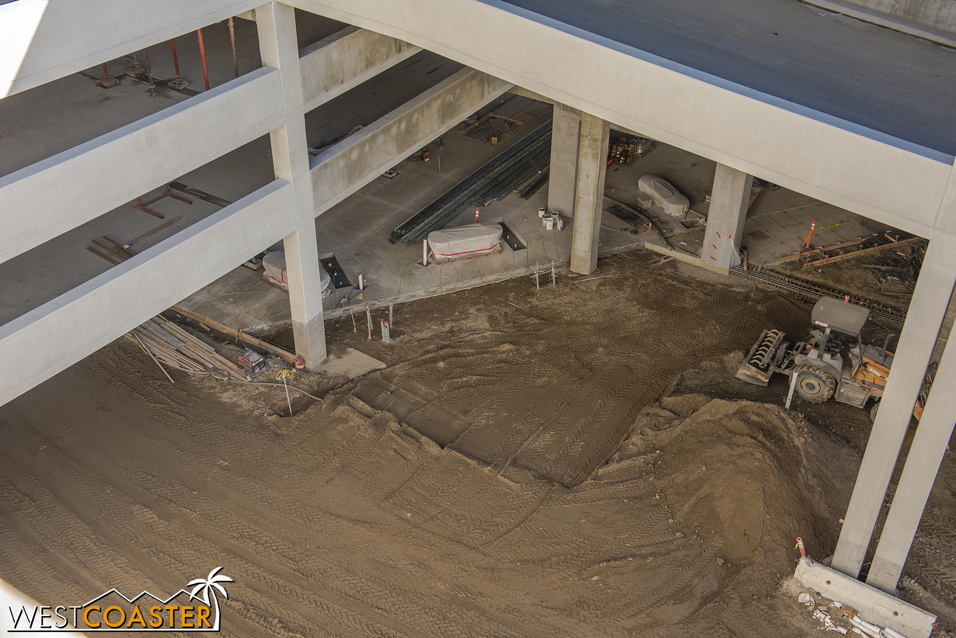 They're also starting to pour the concrete on the ground floor, finally.
